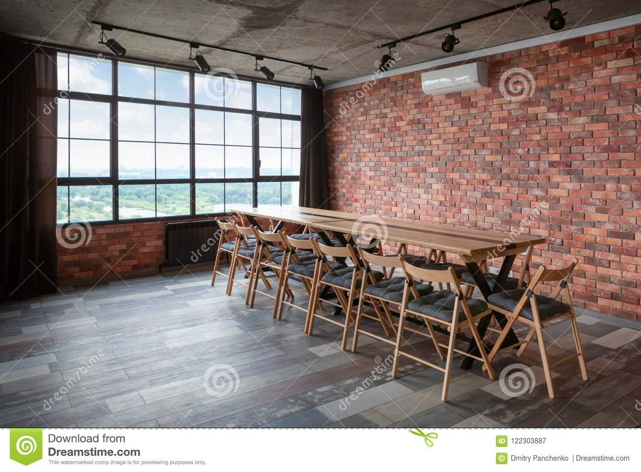 Modern interior design of conference room stock image image of