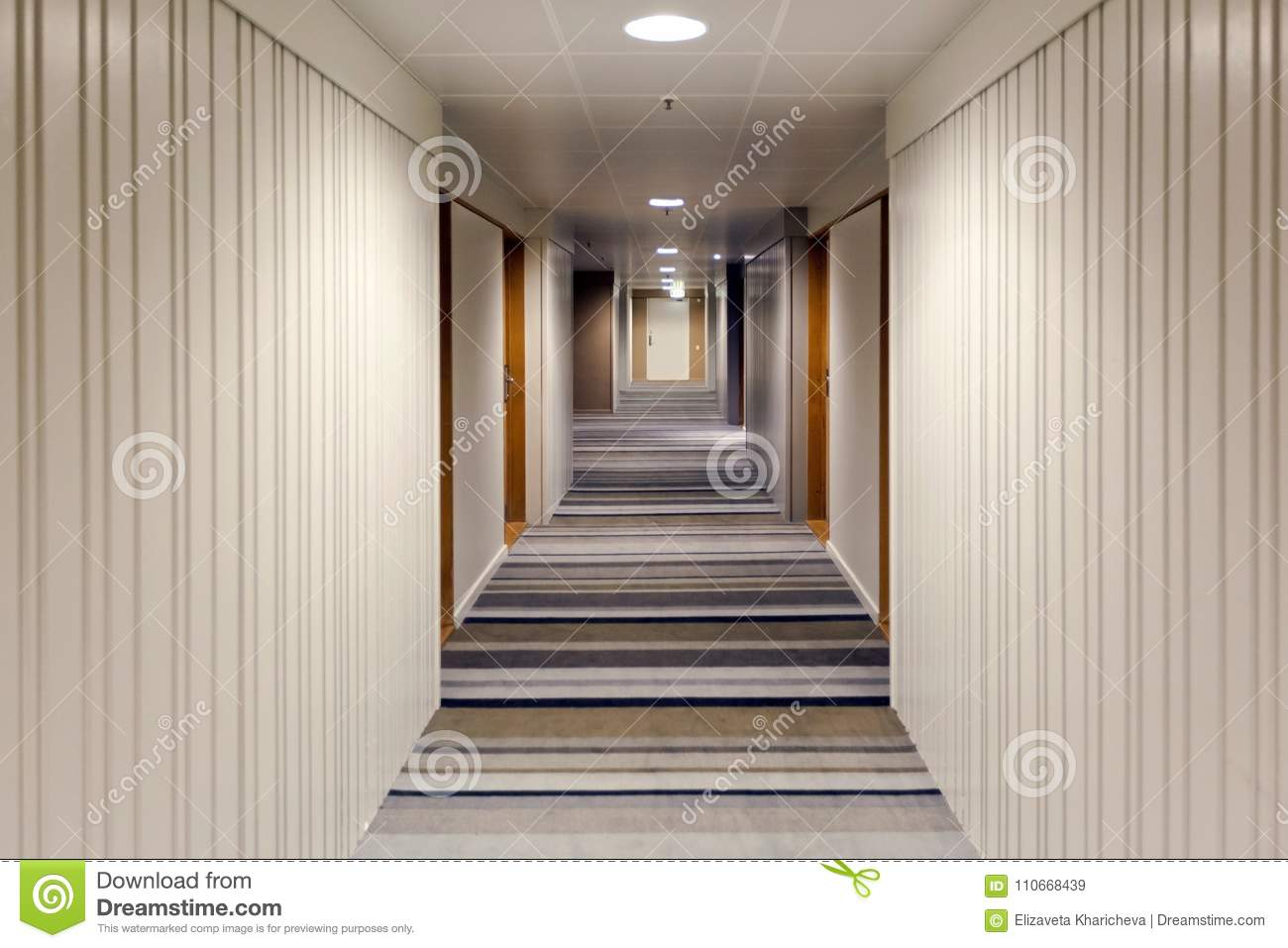 Modern interior design of the corridor stock image image of