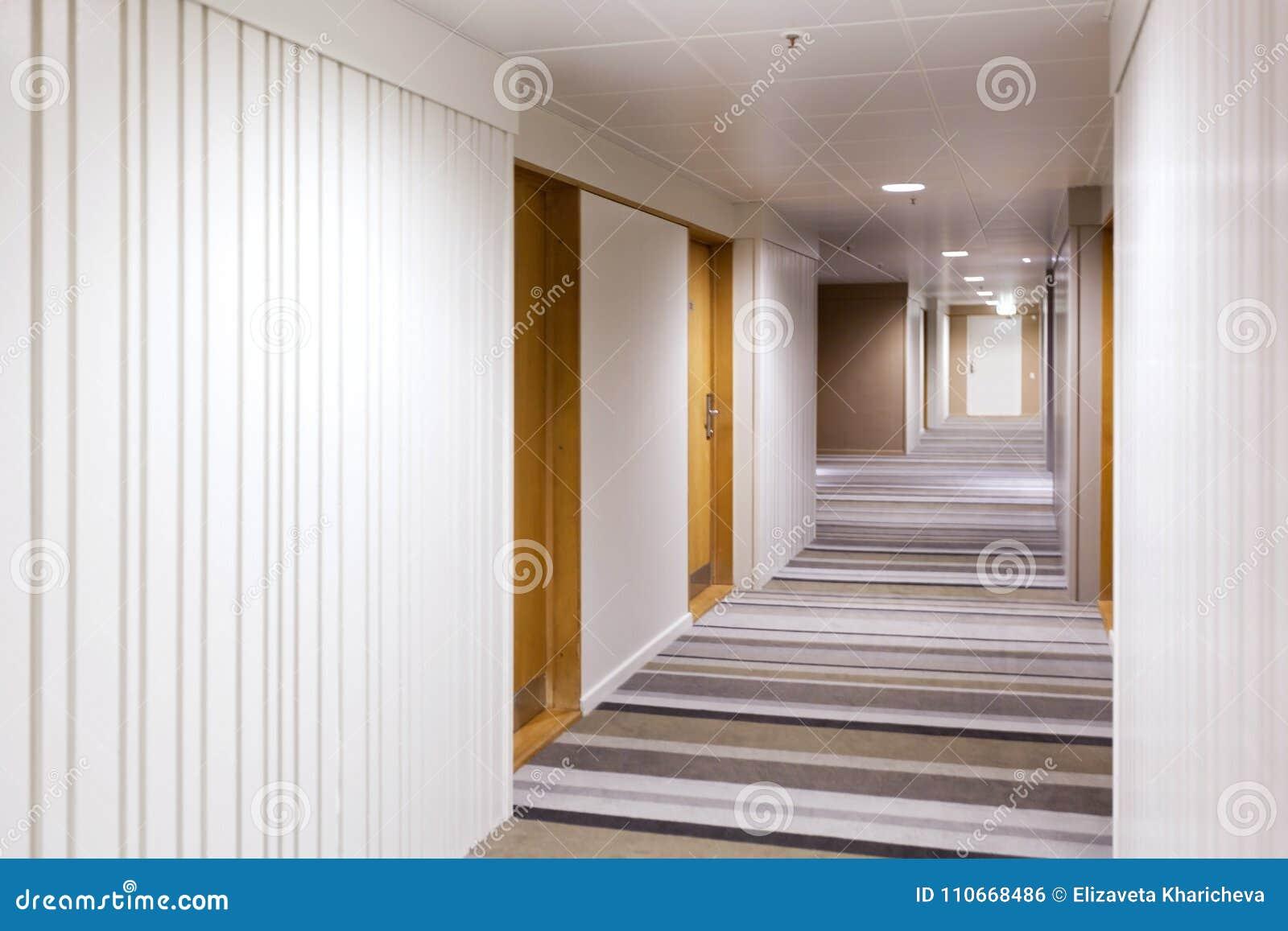 Modern Interior Design Of The Corridor Stock Photo