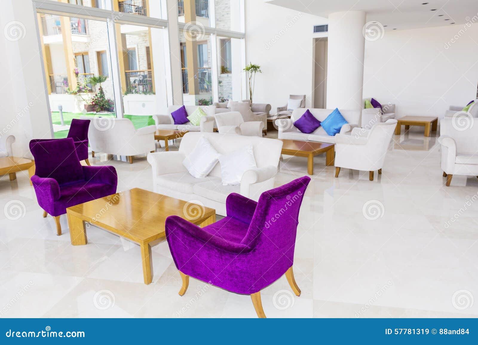 Modern Interior Design Of A Hotel Lobby Stock Image
