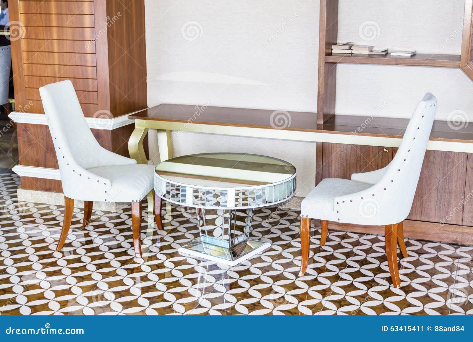 Hotel lobby furniture - Royalty Free Stock Photo