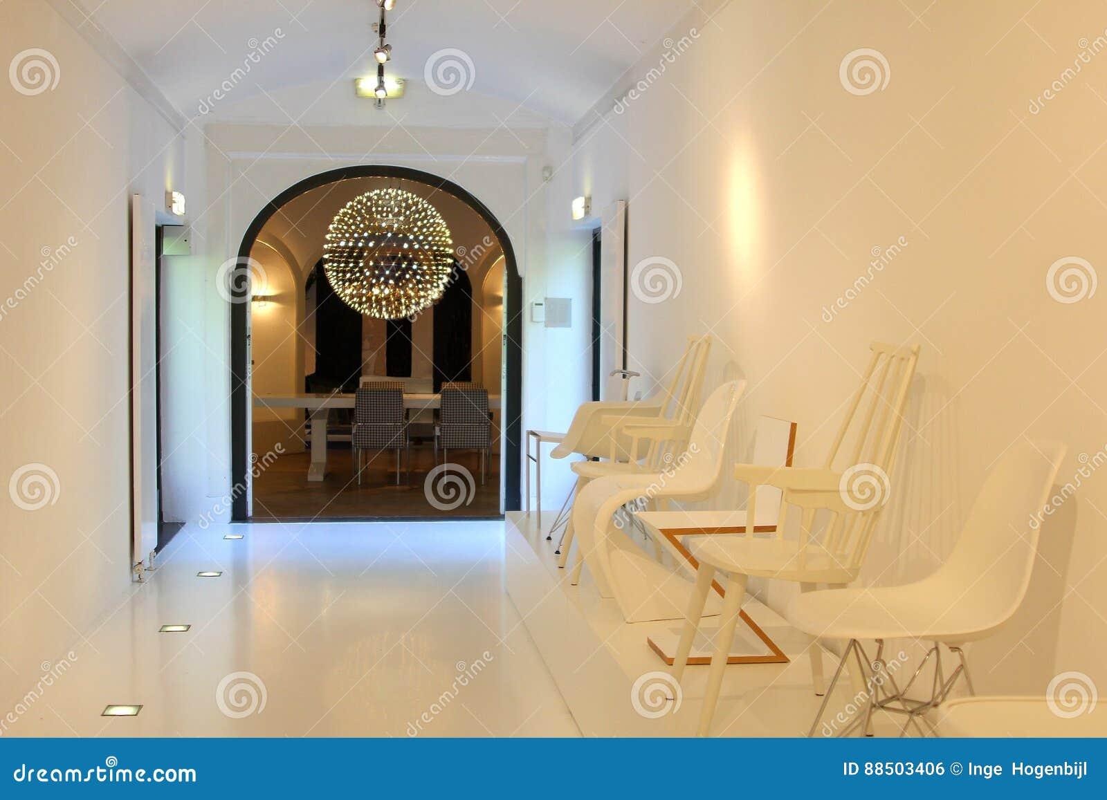 Modern Interior Design Living Illumination House Netherlands Stock