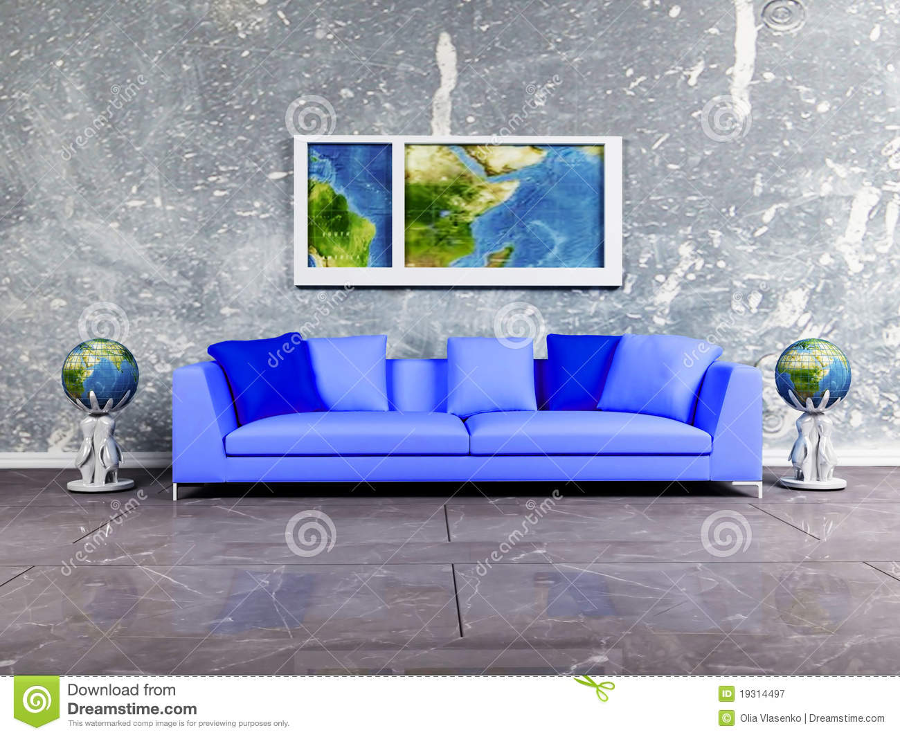 Royalty free stock photography modern interior design of living room