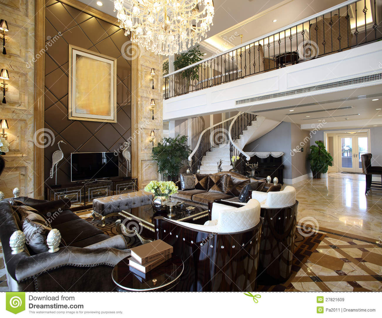 Modern interior design living room stock image image Modern living room interior design 2012