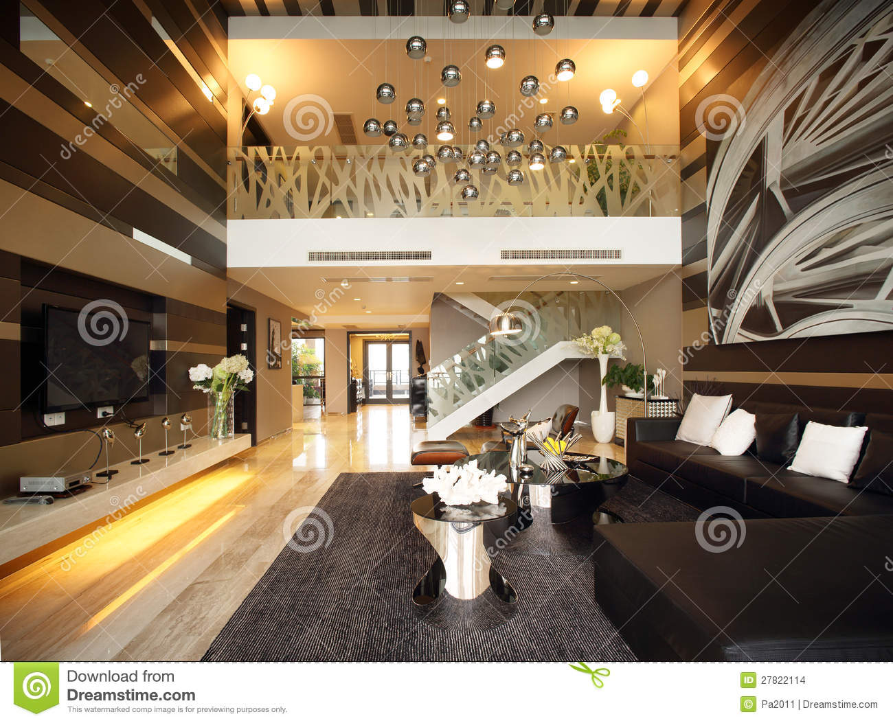 modern interior design - living room stock images - image: 27822114 - Interior Design Wohnzimmer Modern