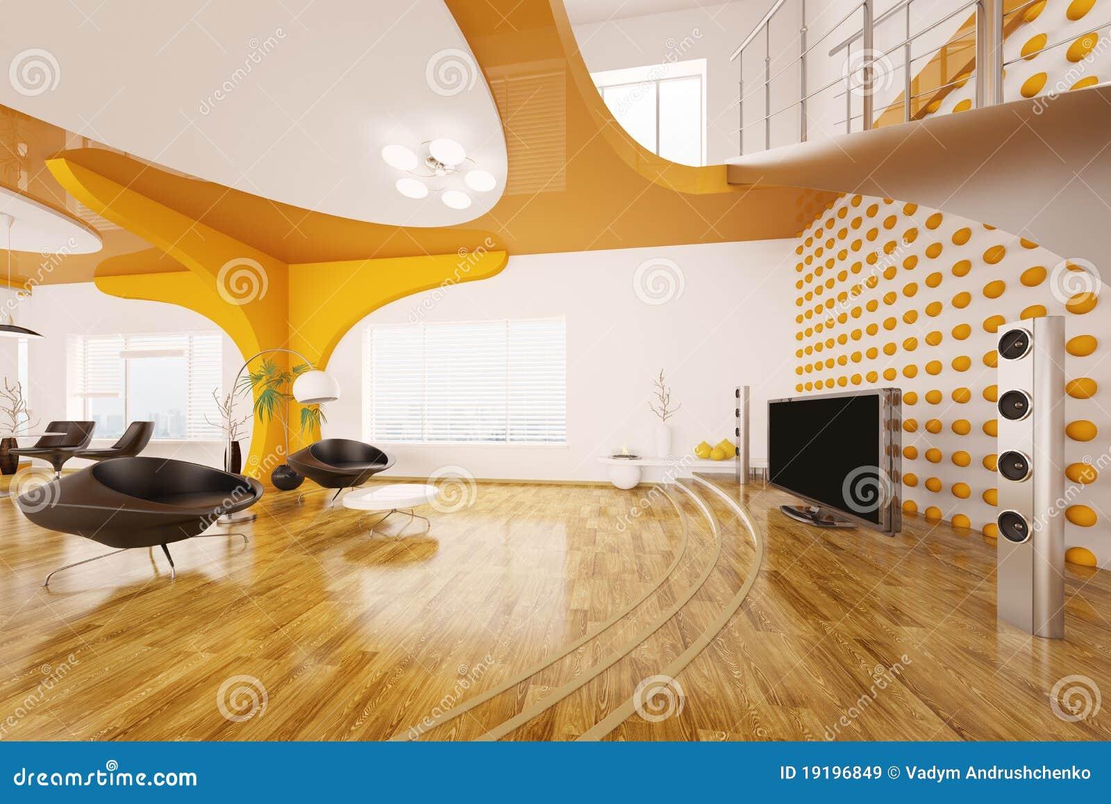 Design Interior Living Modern Render Room