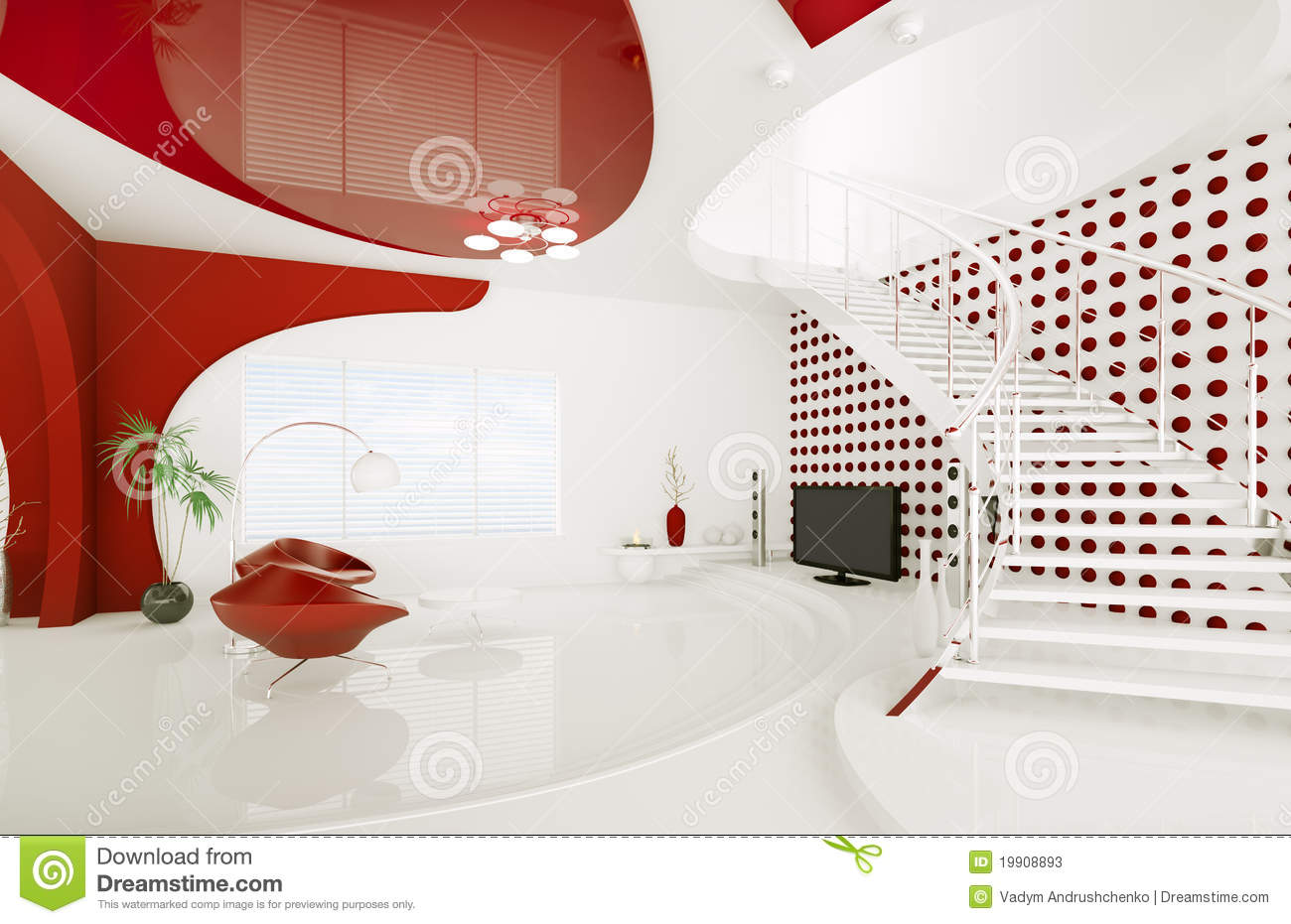 Modern interior design of living room 3d render stock Modern living room interior design 2012