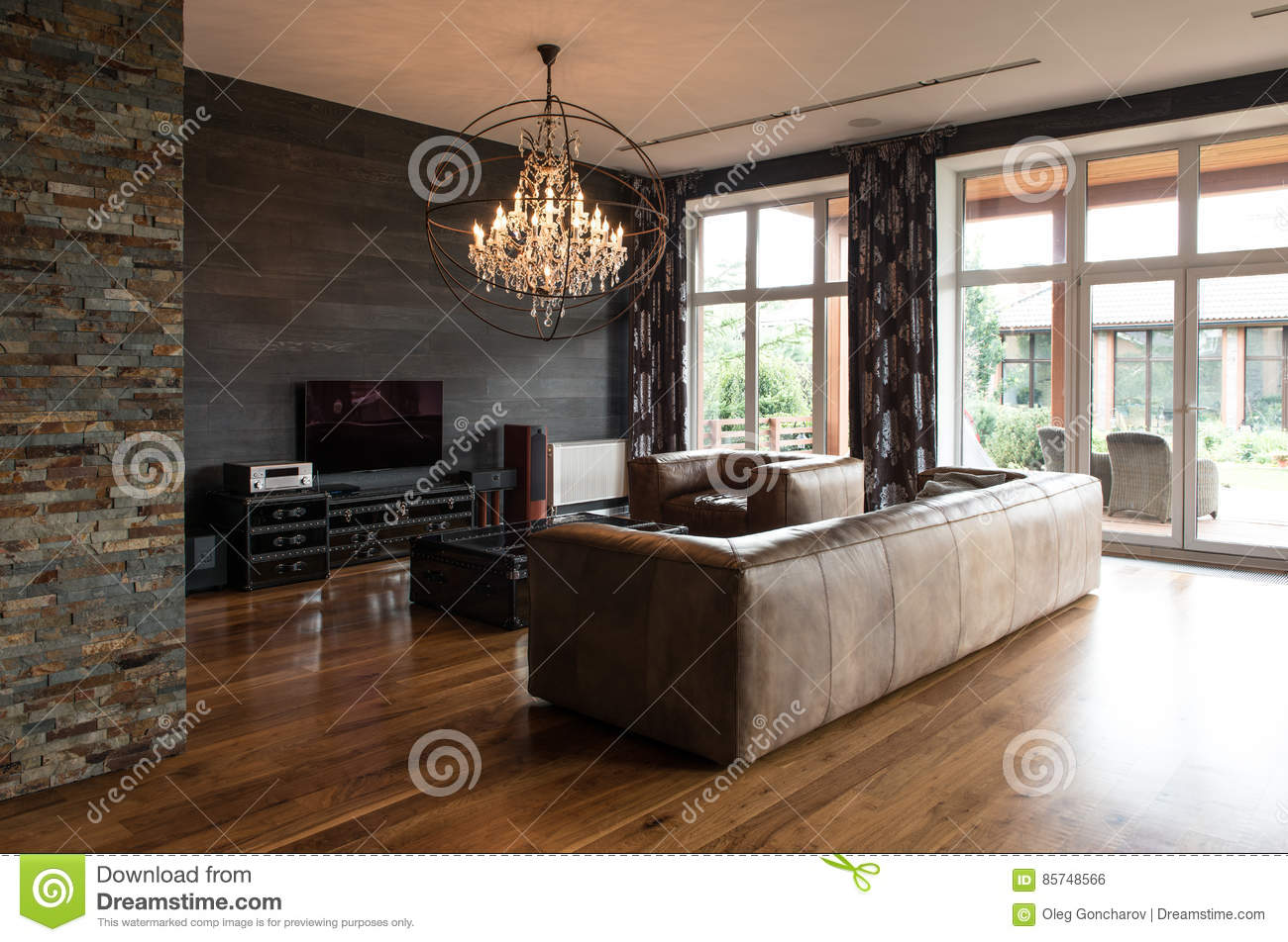 Modern interior design of living room stock photo image of