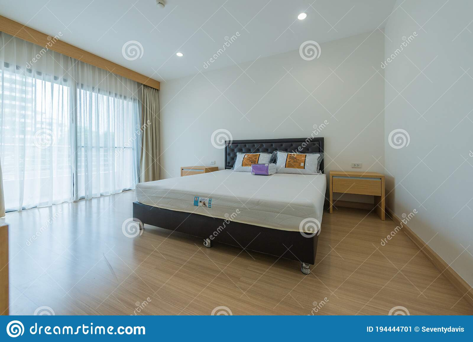 Modern Interior Design In Small Apartment With Bedroom Stock Image Image Of Ambient Clean 194444701