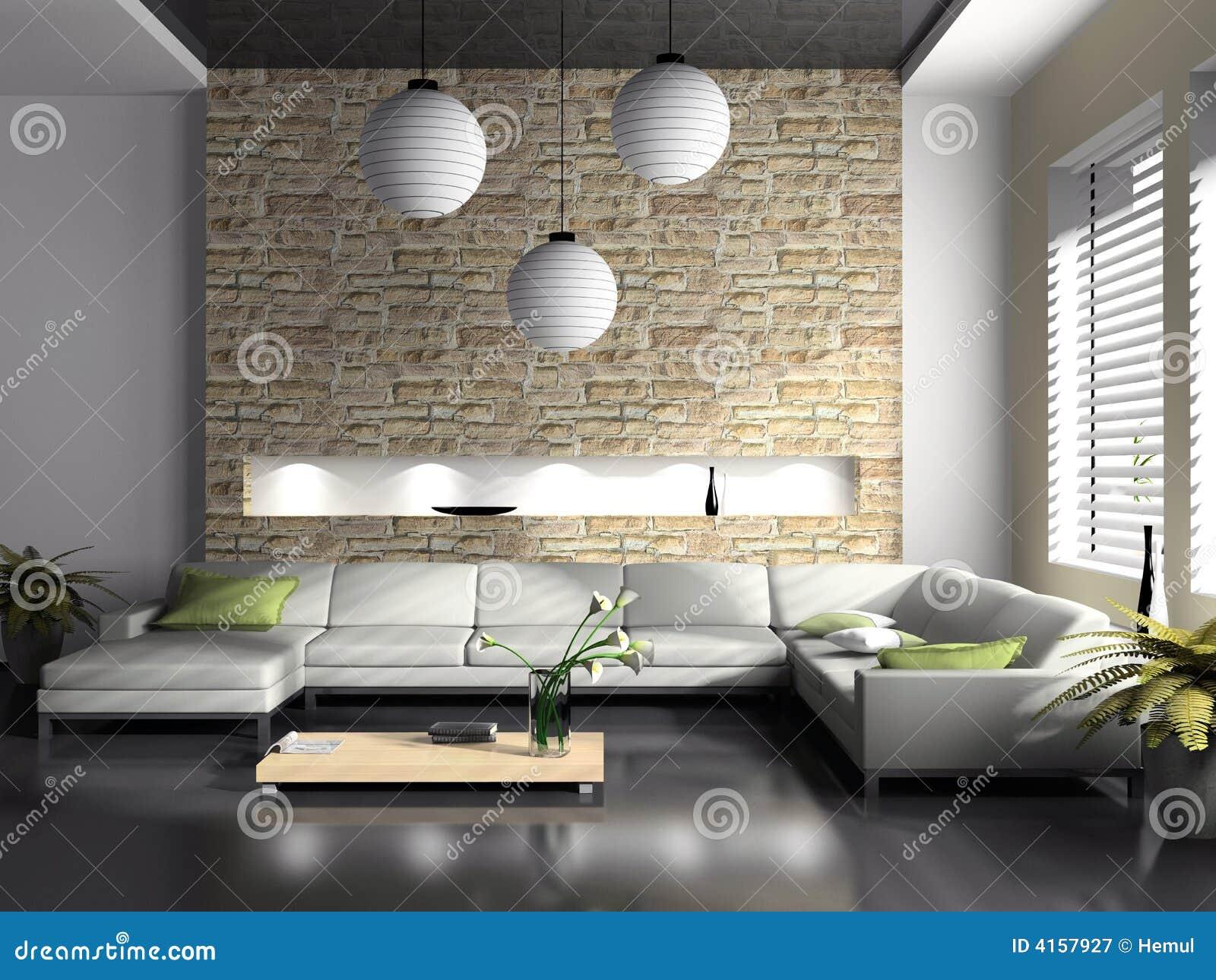 Modern Interior Of Drawing-room Stock Illustration - Illustration of ...