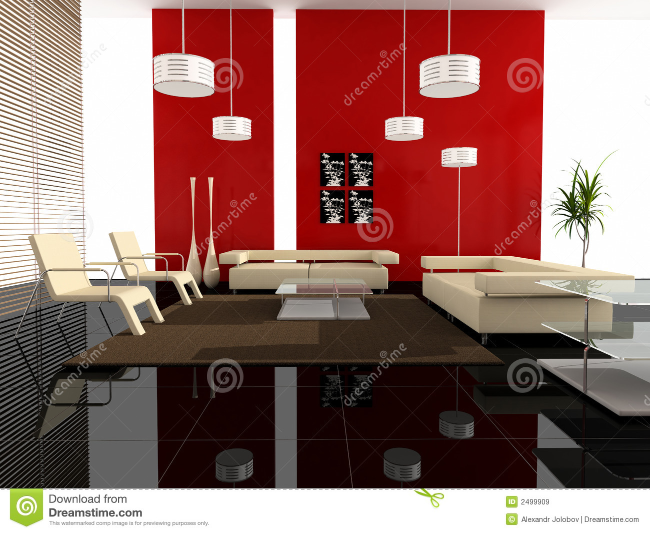 Modern interior of a hall royalty free stock images for Hall interior furniture