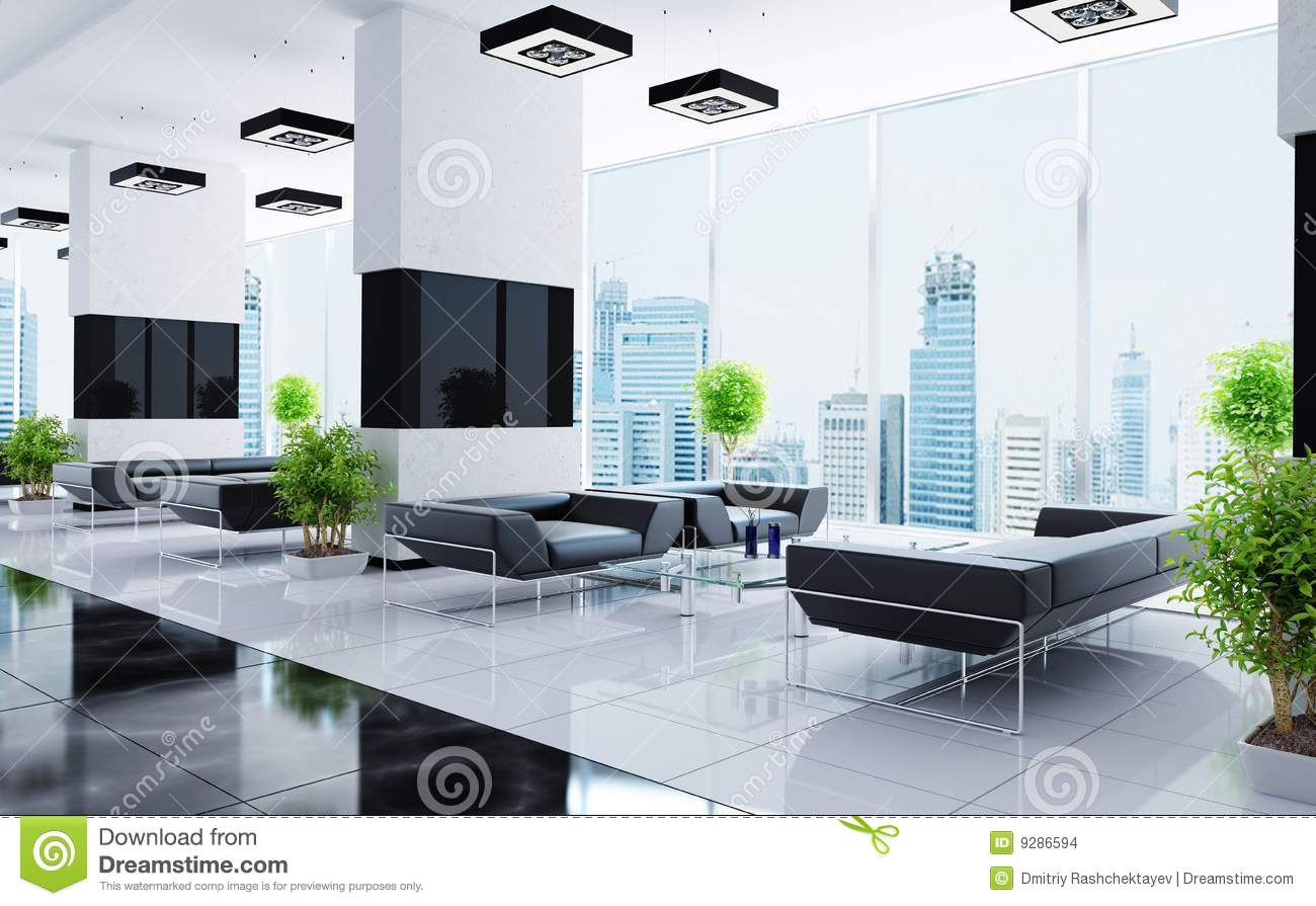 Modern interior of a hall stock images image 9286594 for Hall interior images
