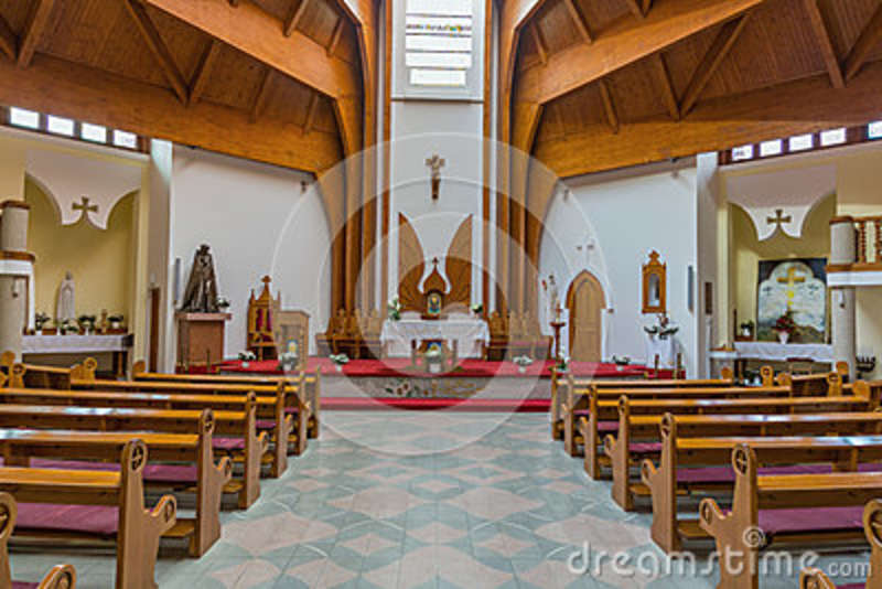 Modern Interior Of The Holy Spirit Catholic Church Of Heviz