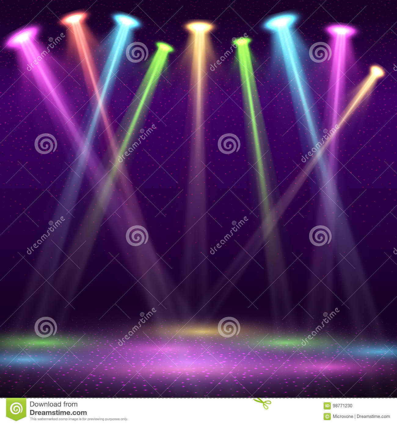 modern interior of nightclub with empty show stage and color spot rh dreamstime com