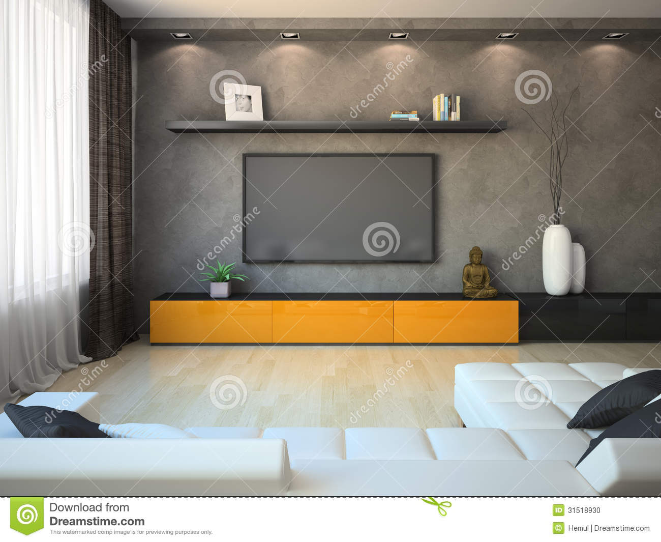 Modern Cabinet interior of a modern cabinet royalty free stock image - image: 9505396