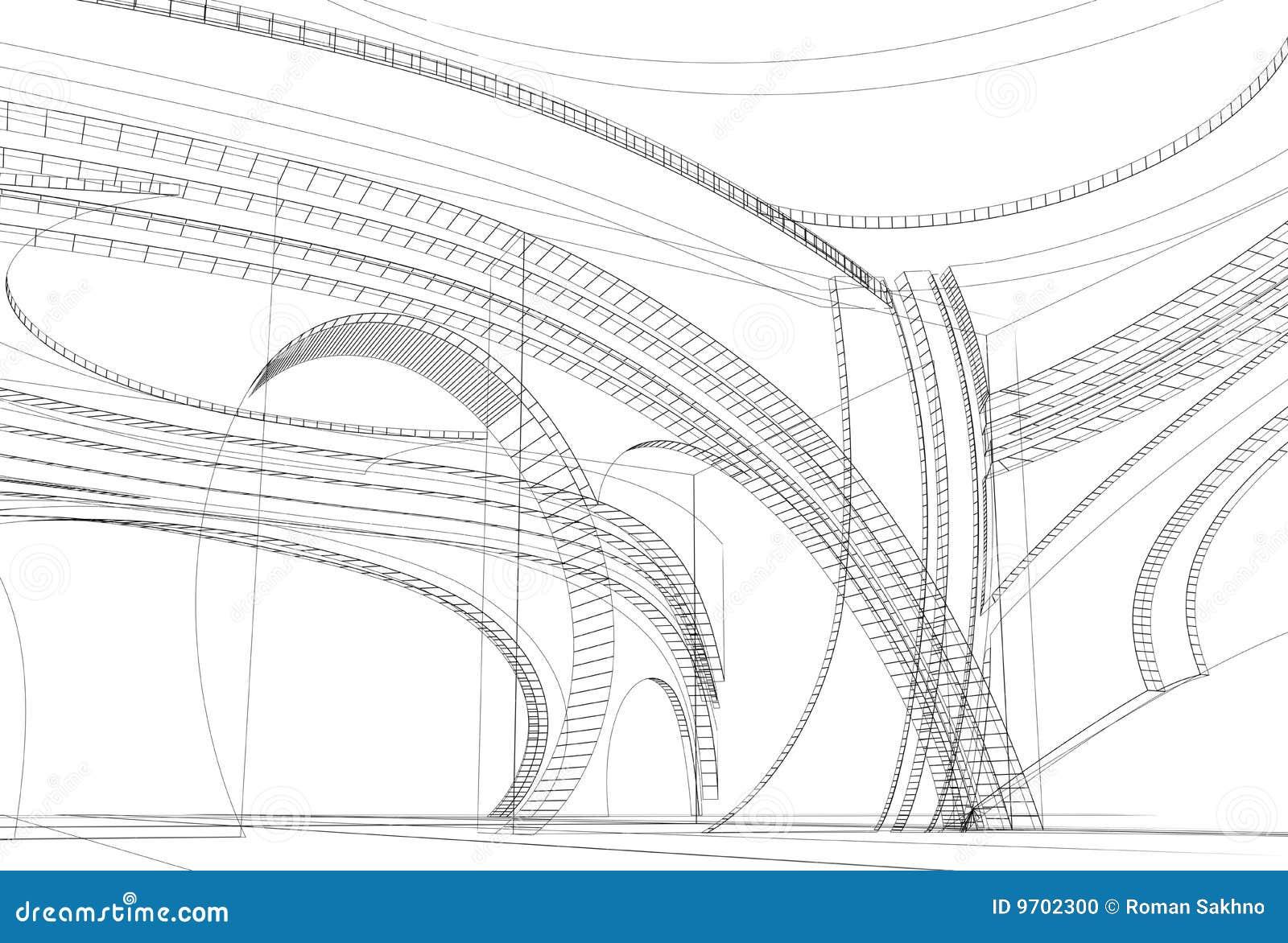 modern interior sketch stock illustration  image of detail