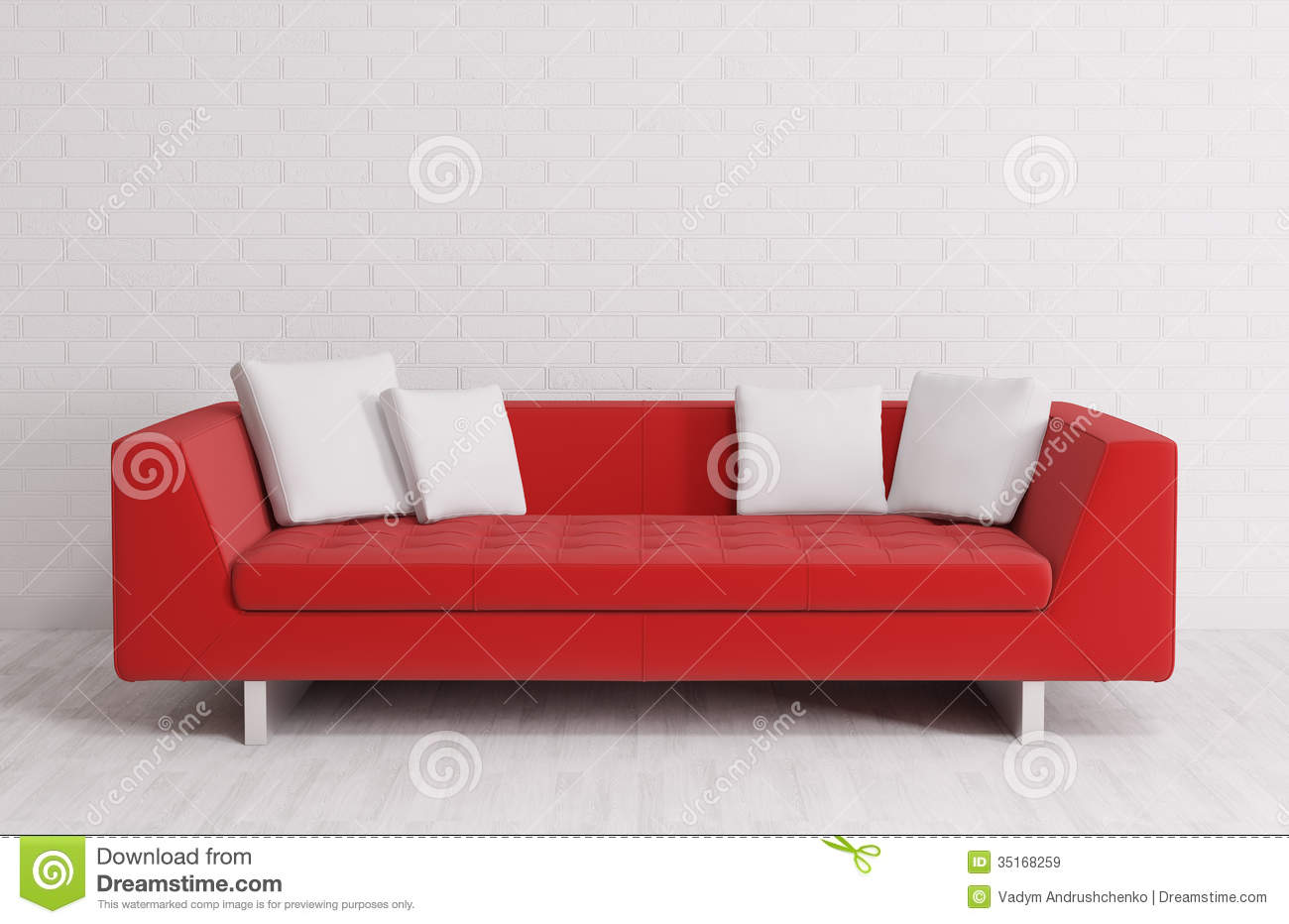 Modern Interior With Sofa 3d Render Stock Illustration ...