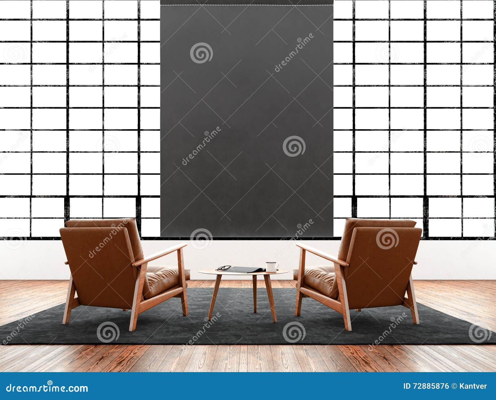 natural color furniture. Modern Interior Studio Loft Huge Panoramic Window,natural Color Floor.Generic Design Furniture In Contemporary Business Natural
