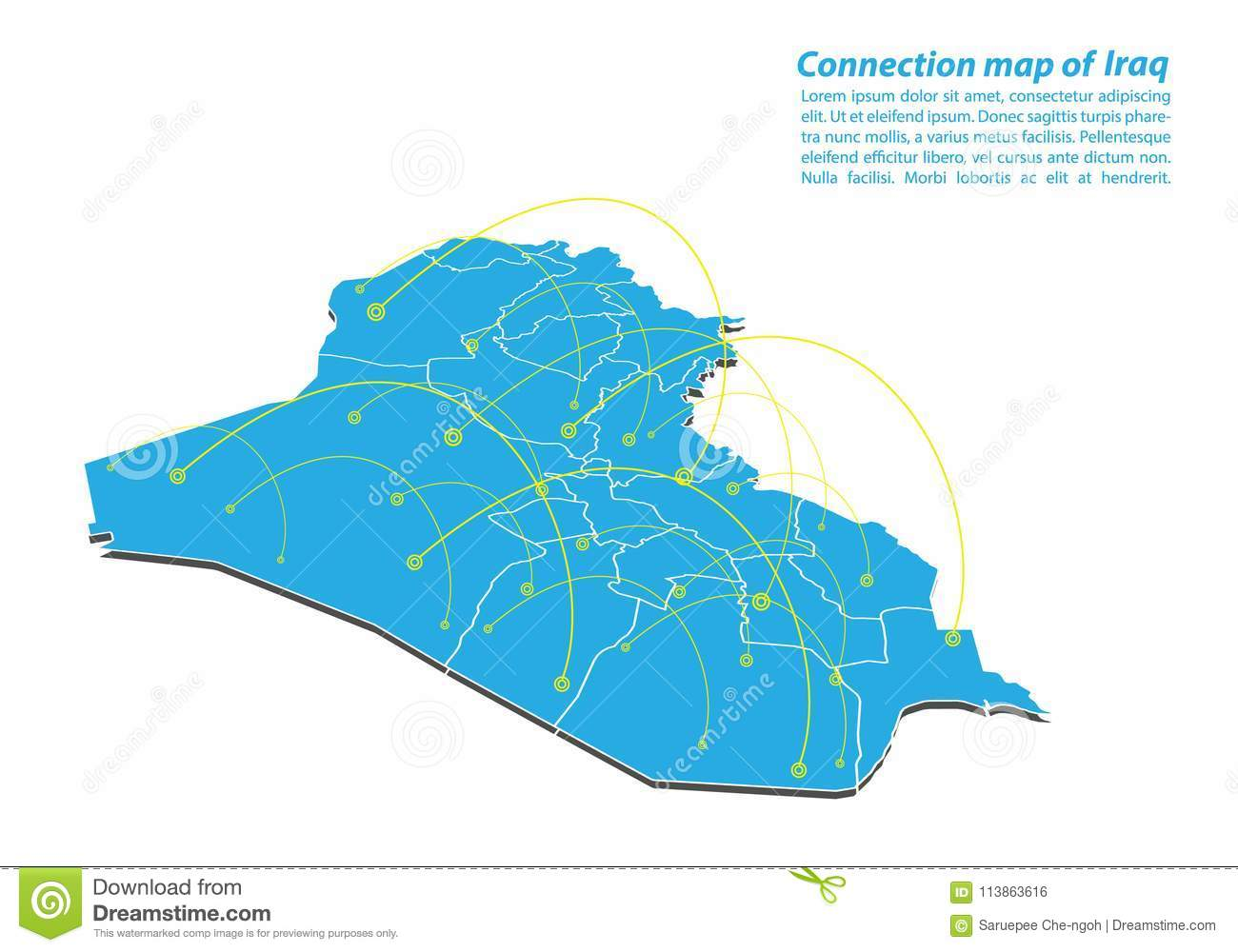 Modern Of Iraq Map Connections Network Design, Best Internet