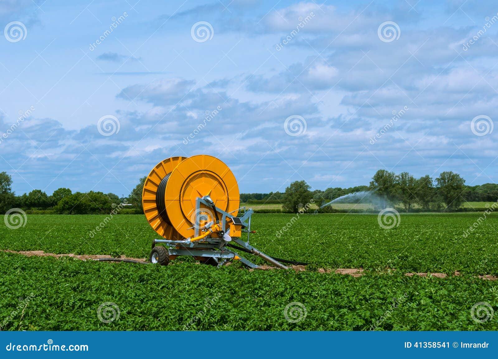 Modern Irrigation System, Suffolk, England, UK Stock Photo - Image ...