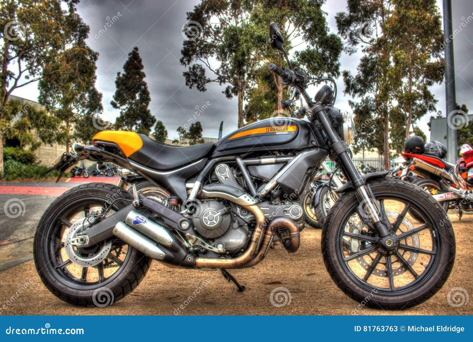 Modern Italian Made Ducati Motorcycle