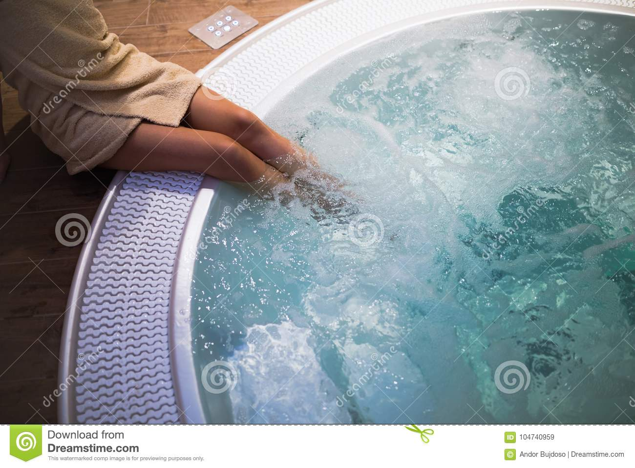 Modern Jacuzzi In Wellness Spa Resort Stock Image - Image of summer ...