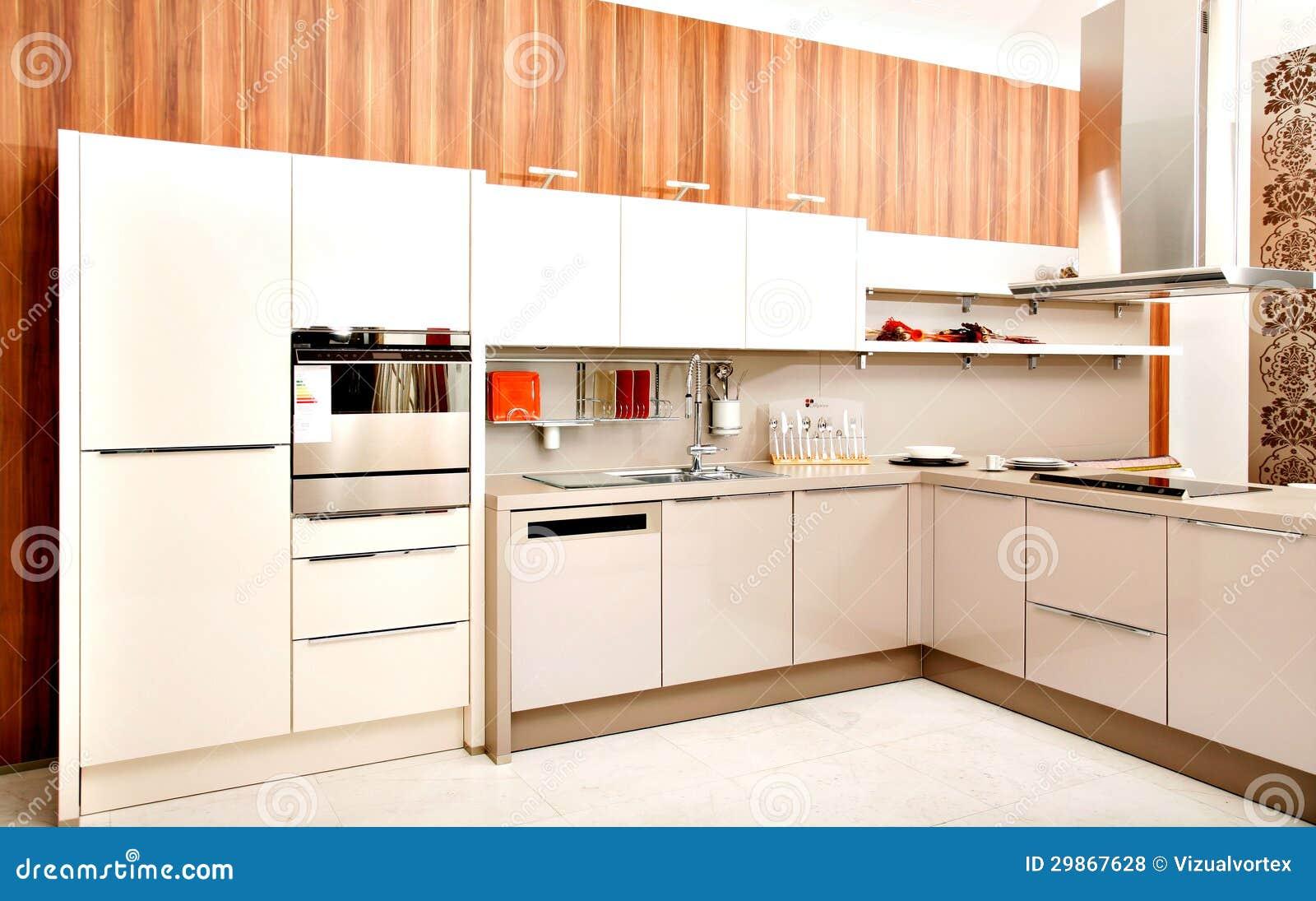 Modern keukenontwerp royalty vrije stock foto 39 s beeld 29867628 - Modern meubilair en oude ...