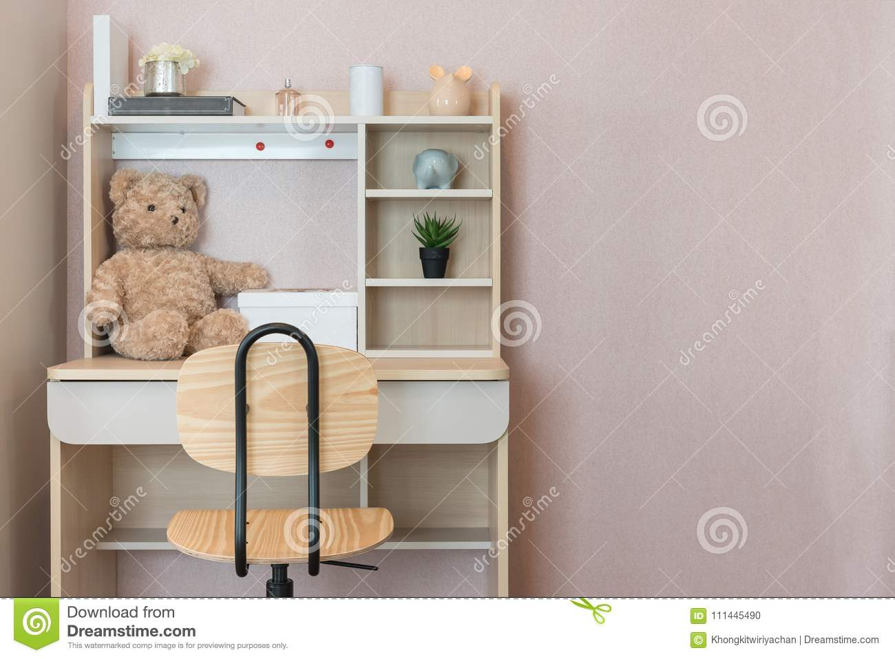 Cool Modern Kids Room With Set Of Chair And Desk Stock Photo Pabps2019 Chair Design Images Pabps2019Com