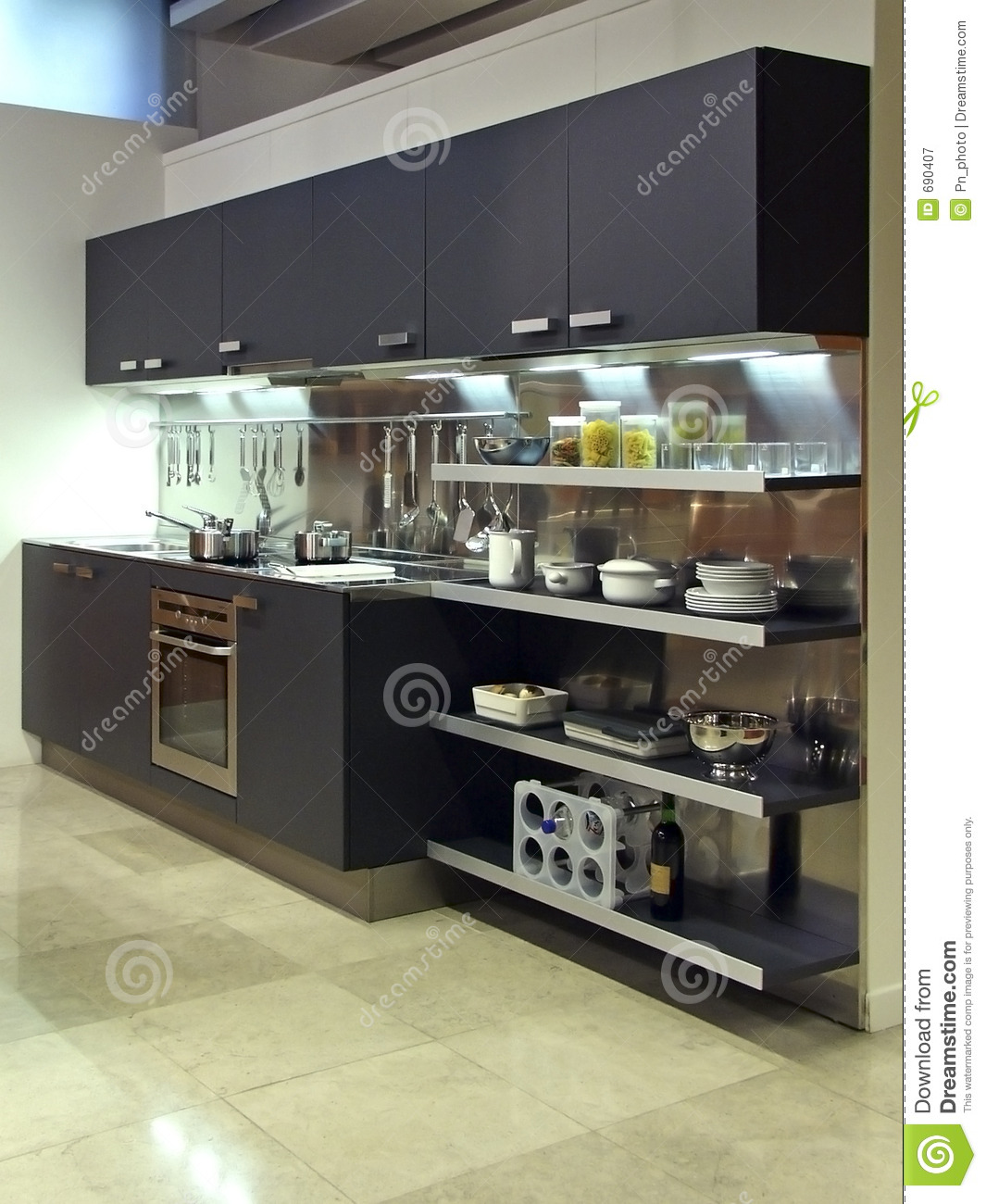 Contemporary Kitchen Vs Modern Kitchen: Modern Kitchen Architecture 03 Stock Image