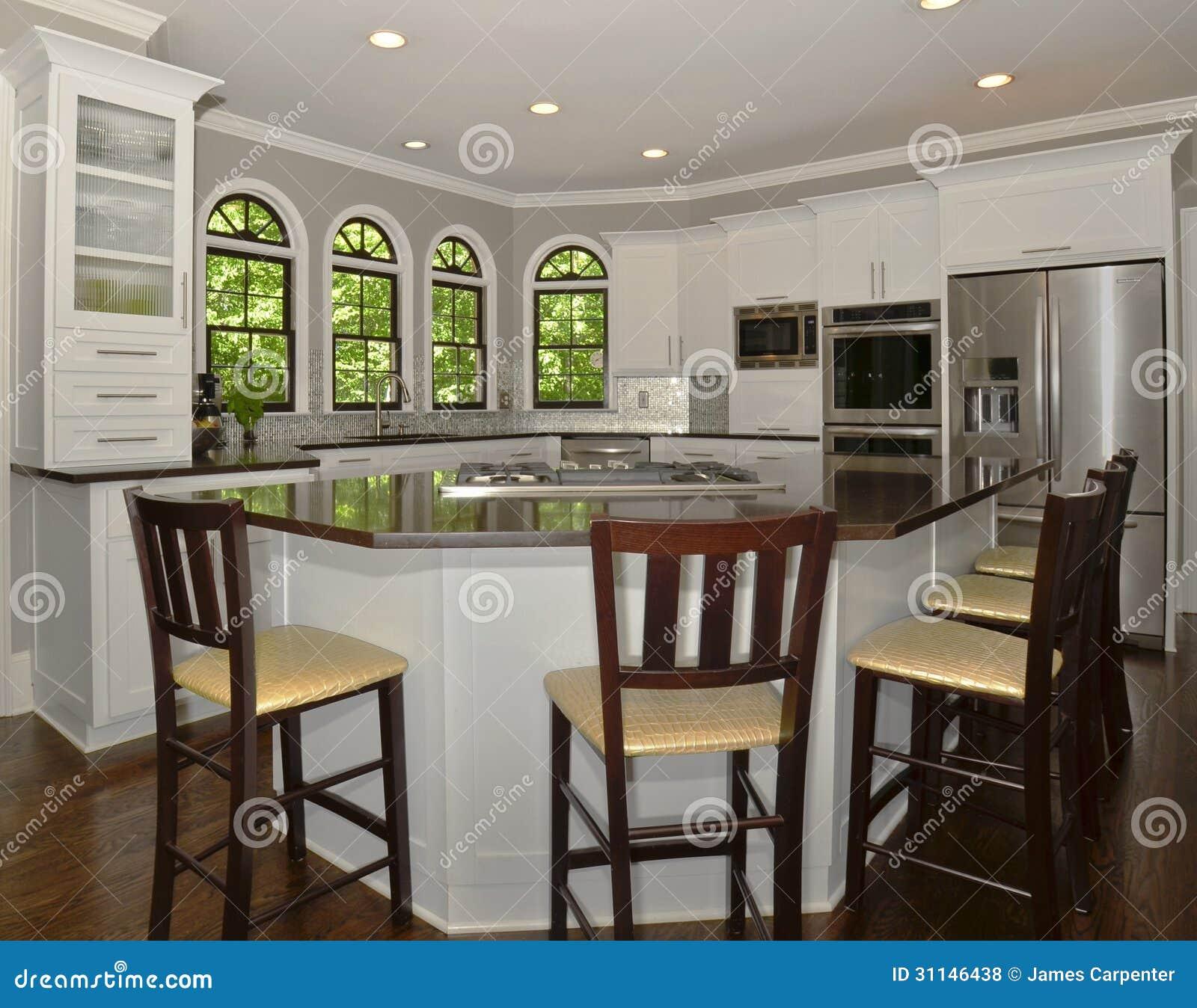 Modern Kitchen Area Royalty Free Stock Photos
