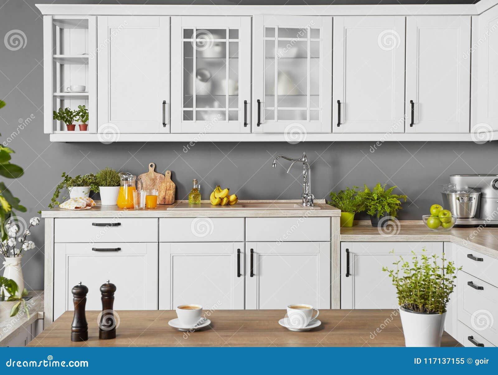 Modern Kitchen Background Stock Image Image Of Background