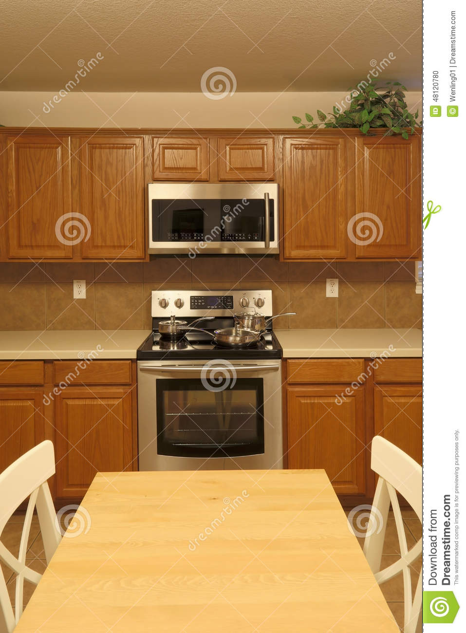 Modern Kitchen Background modern kitchen background stock photo - image: 48120780