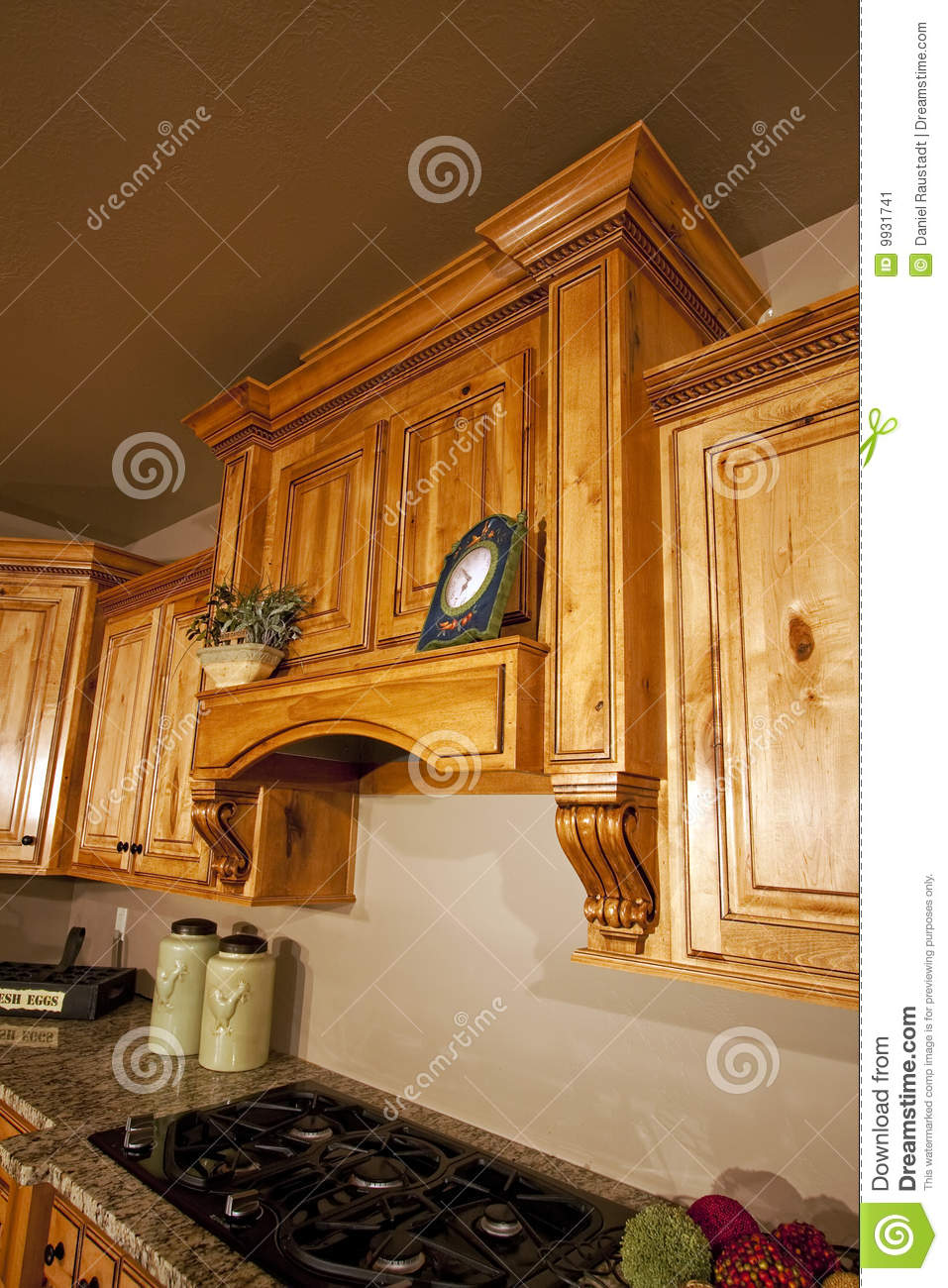 modern kitchen cabinets range hood stock image image small kitchen island with stove and oven
