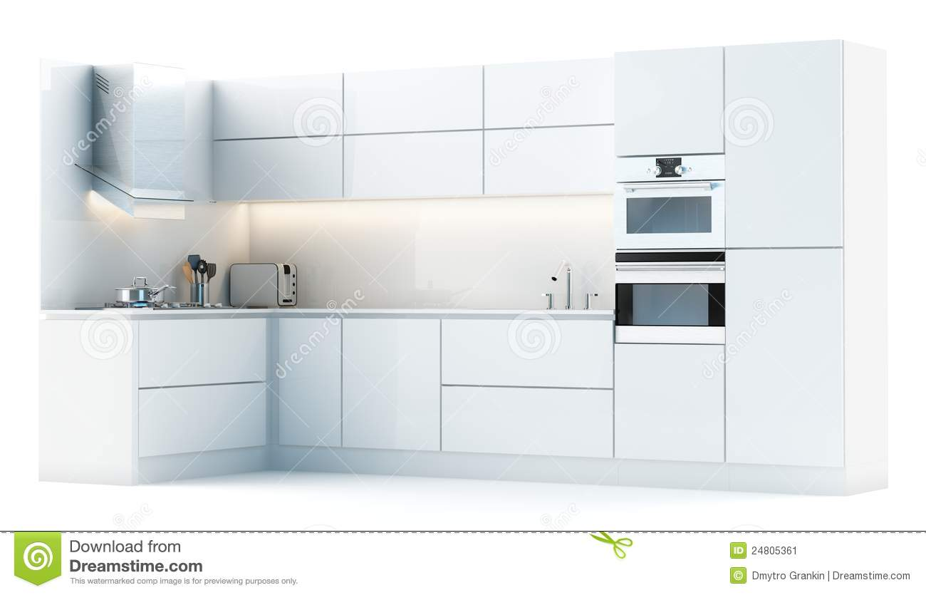 Modern Kitchen Cabinets In Studio Stock Image Image