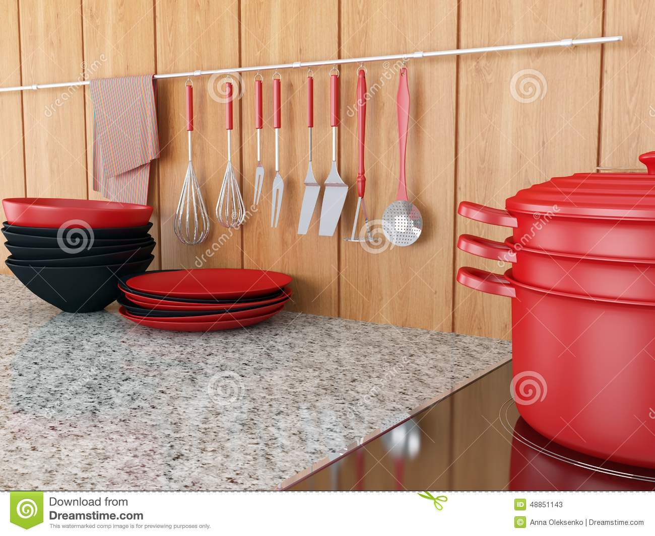 Modern Kitchen Design Stock Illustration Image 48851143