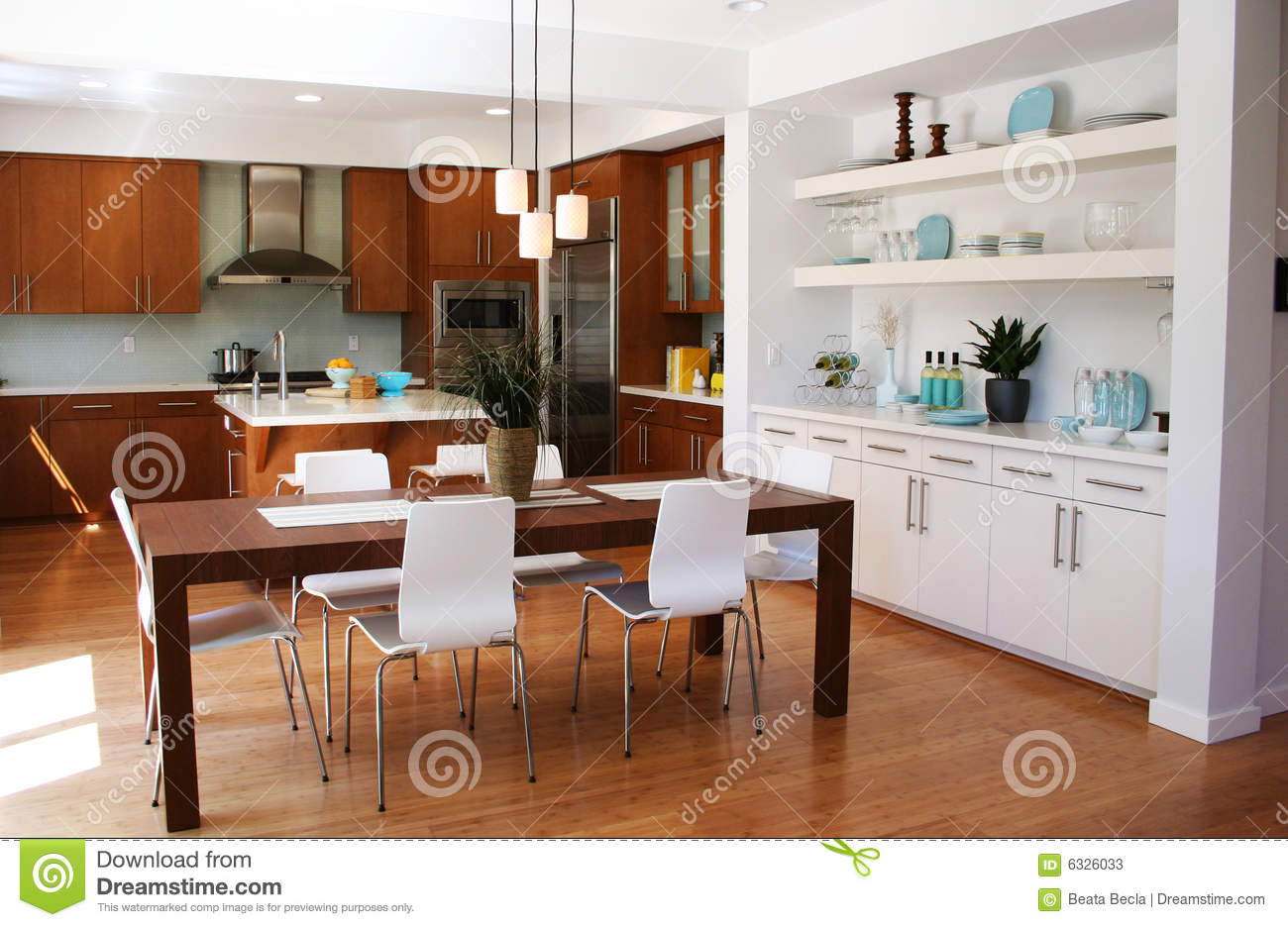 Kitchen And Dining Modern Kitchen And Dining Area Stock Photos Image 6326033