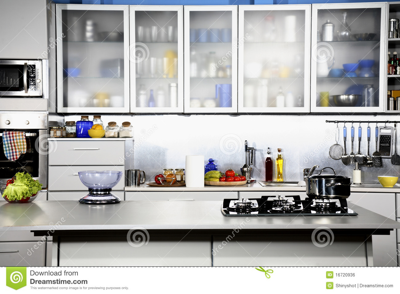 Royalty Free Stock Photo. Download Modern Kitchen Front View ...