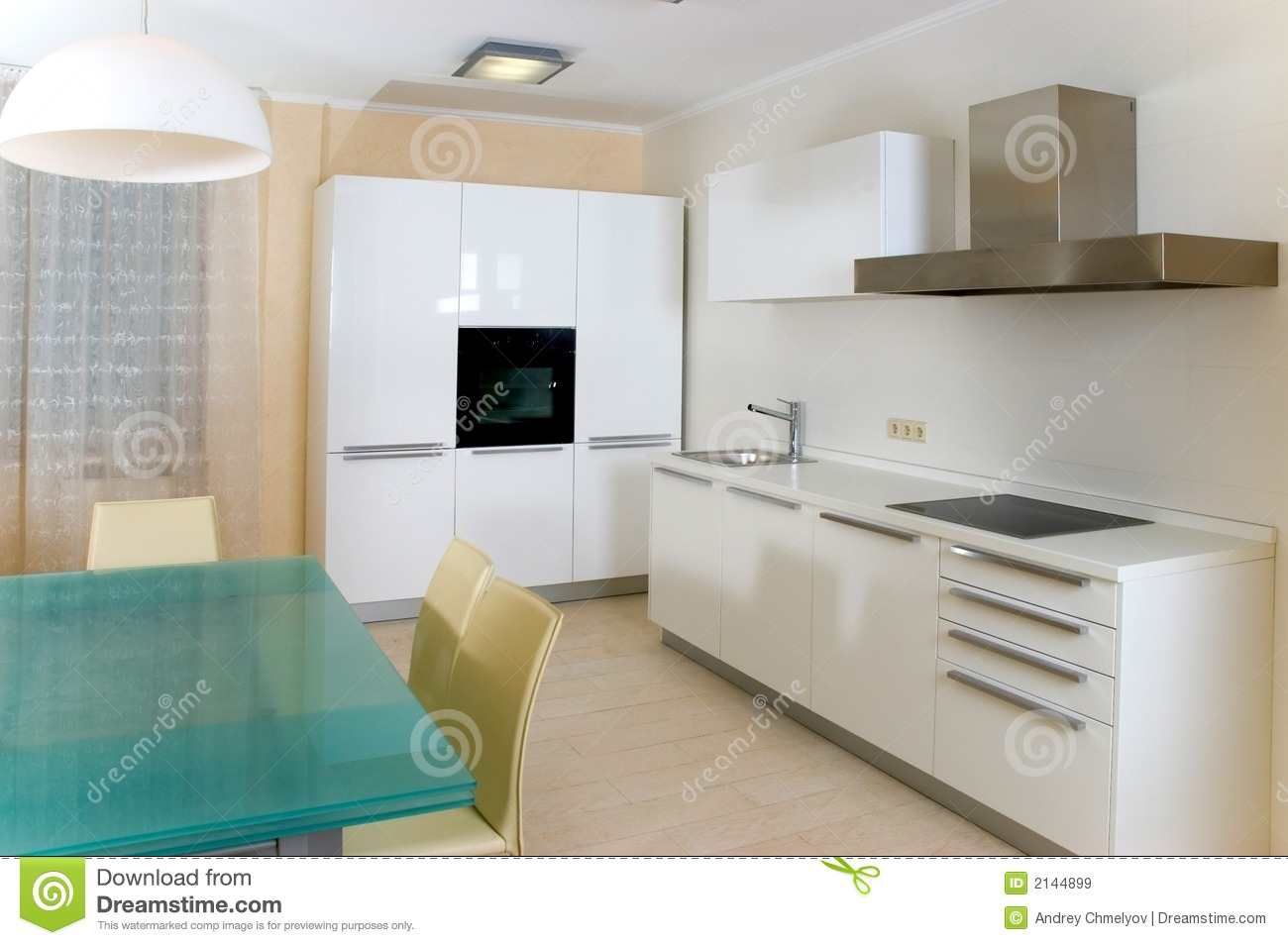 Modern kitchen with furniture stock image image of for Les element de cuisine moderne