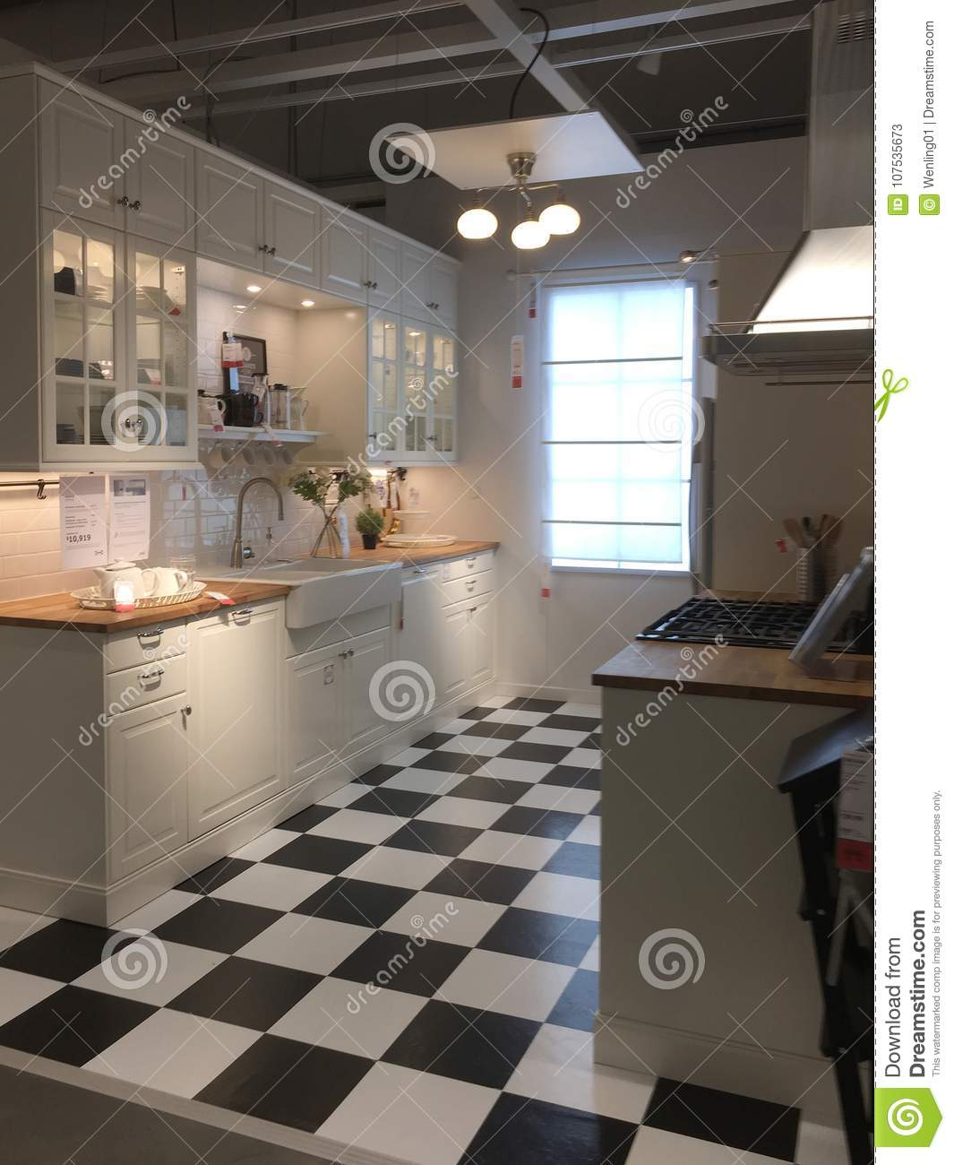 Download Modern Kitchen Furniture For Sale At IKEA Editorial Stock Photo    Image Of Kitchenware,