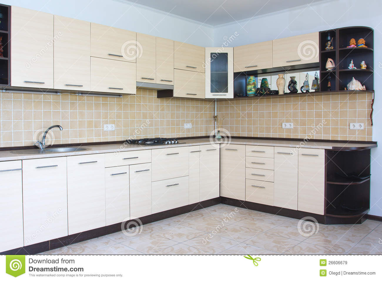 Modern kitchen interior stock image. Image of indoors - 26606679