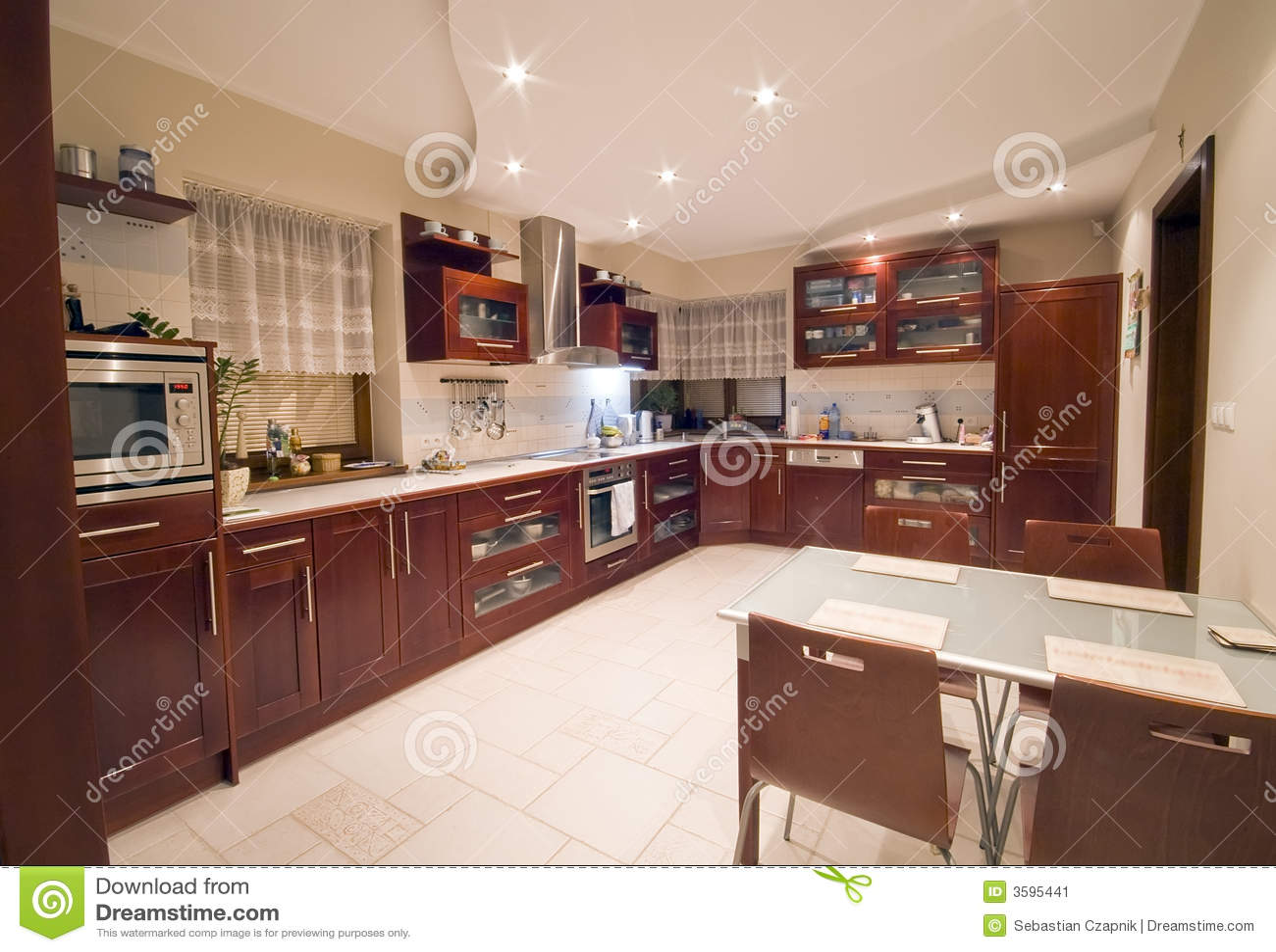 Kitchen Interiors Modern Kitchen Interior Stock Image Image 3595441