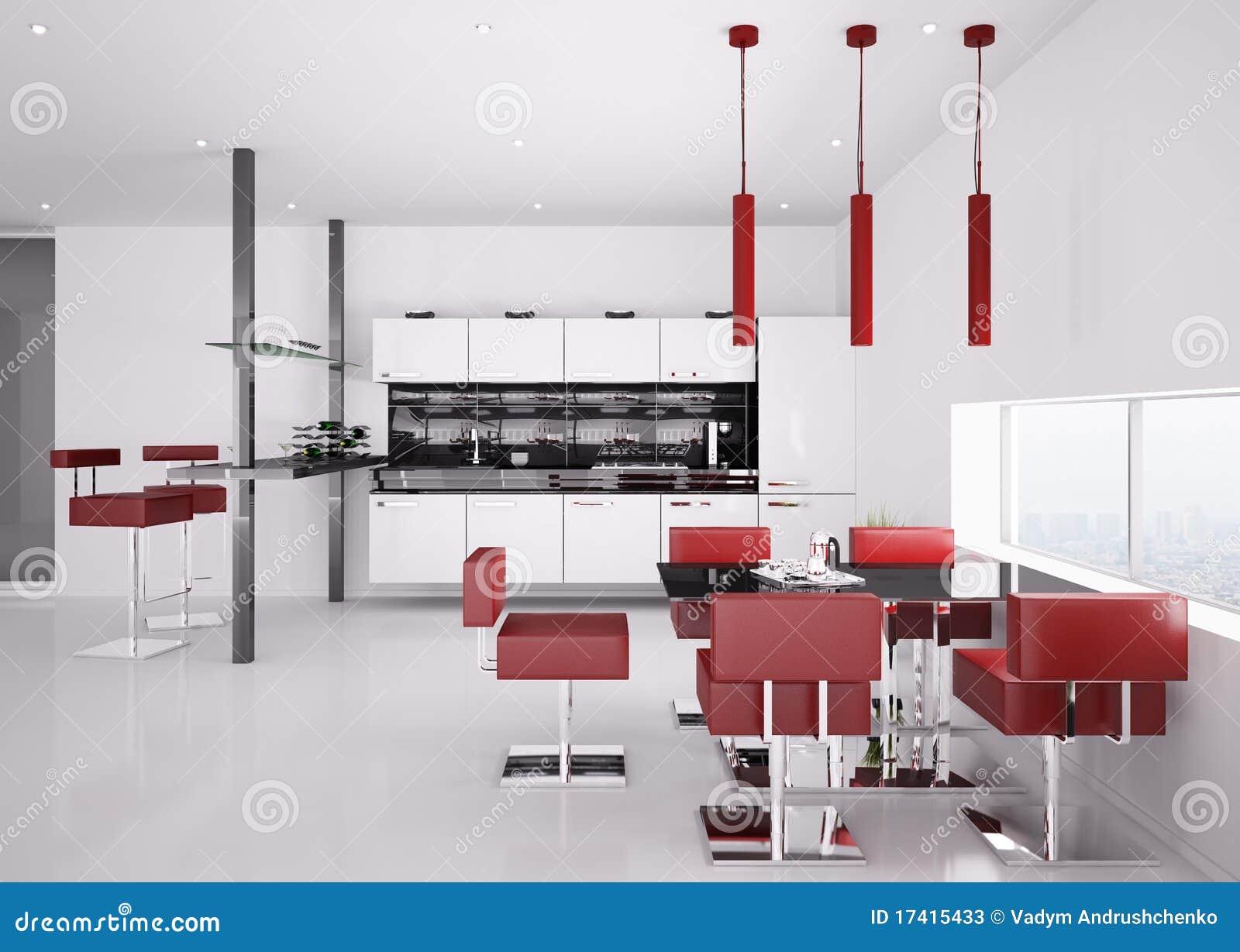 Modern Kitchen Interior Modern Kitchen Interior 3d Render Stock Photos Image 17415433