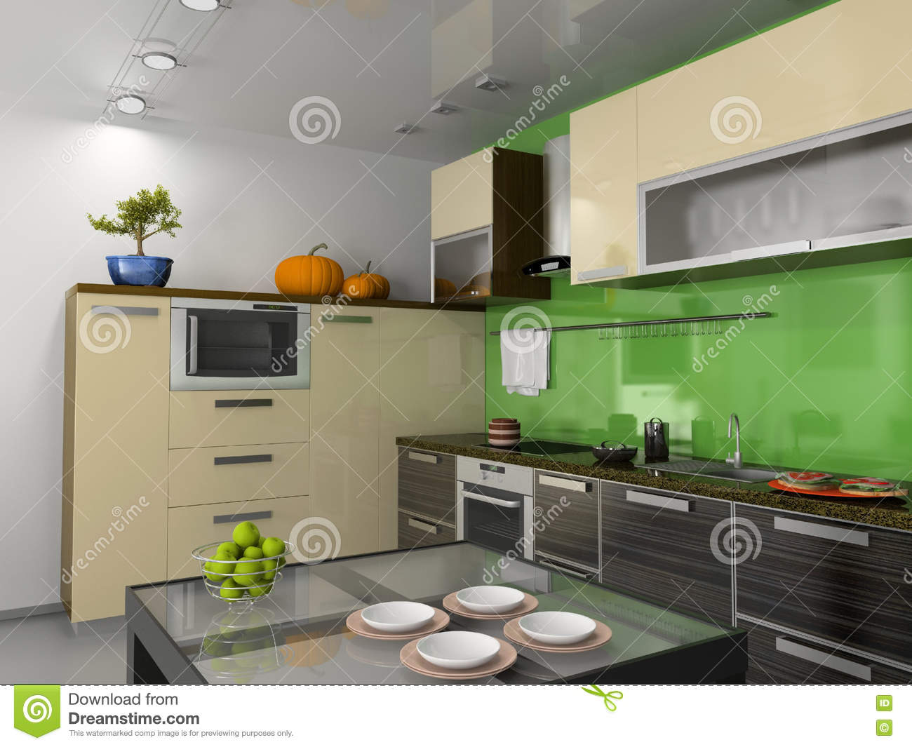 Modern kitchen interior stock photos image 7204943 - Kitchen interior photos ...