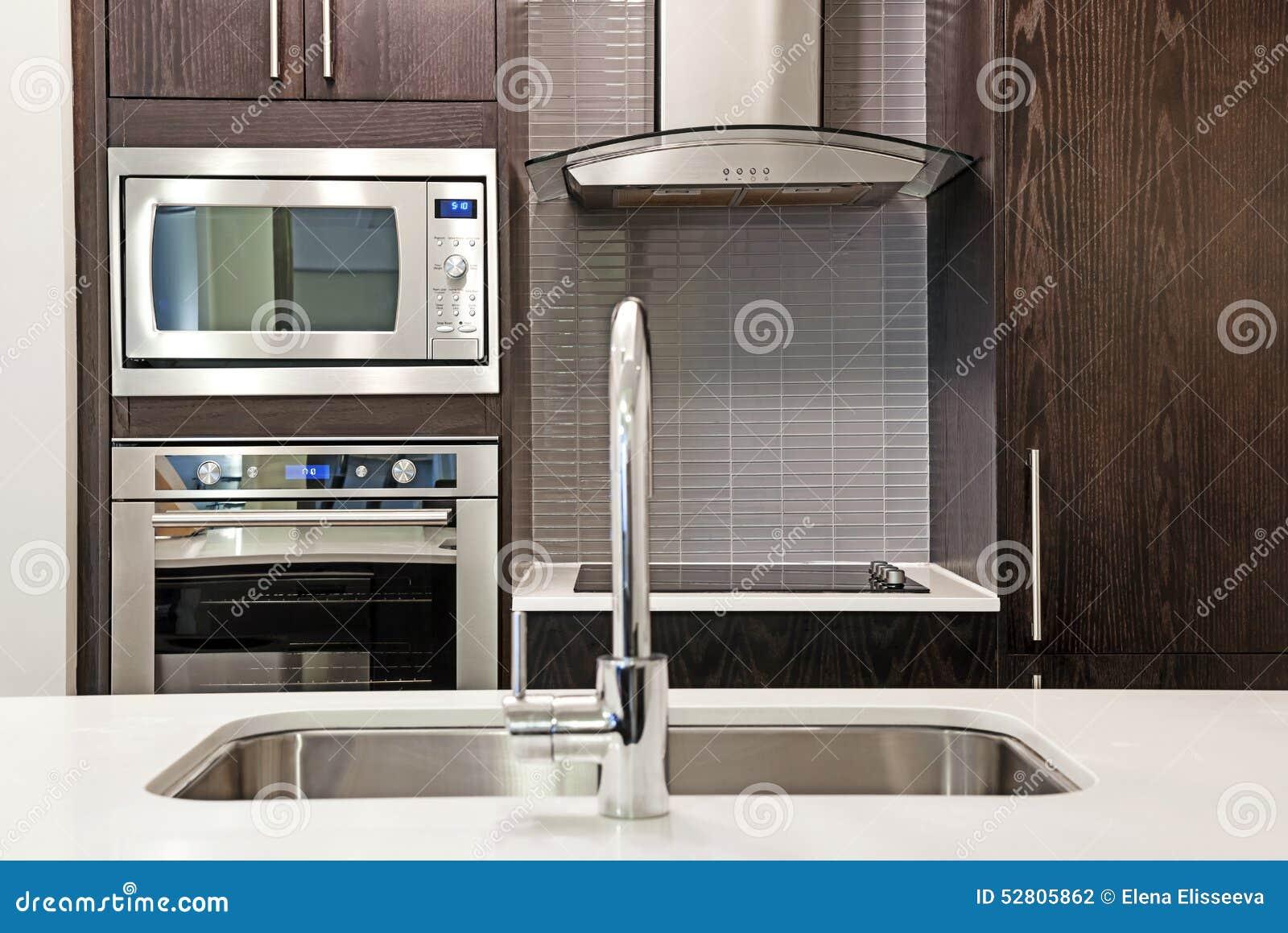 Modern kitchen interior stock photo image 52805862 - Modern luxury kitchen with granite countertop ...