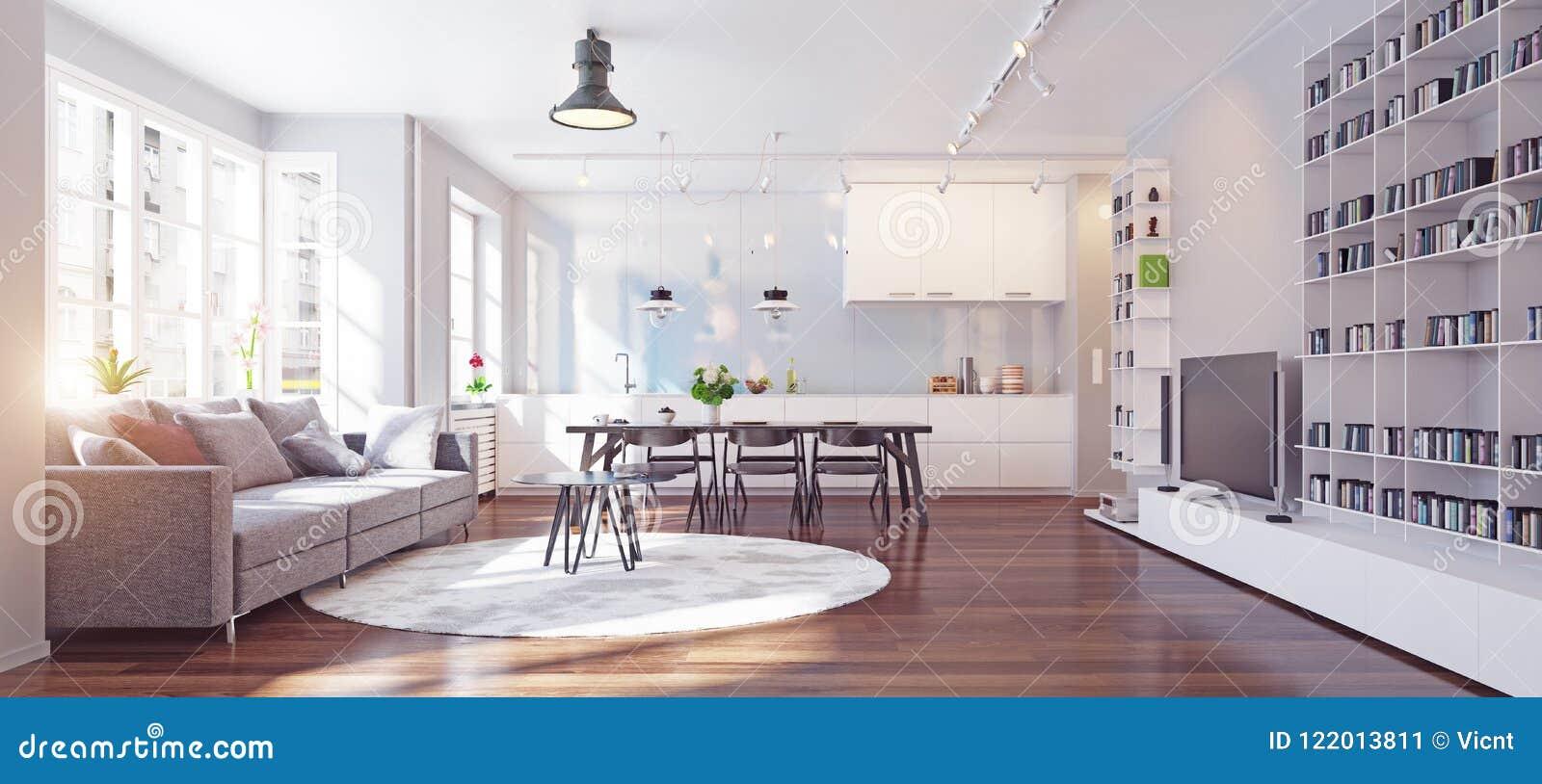 Modern kitchen interior stock image. Image of comfortable - 122013811