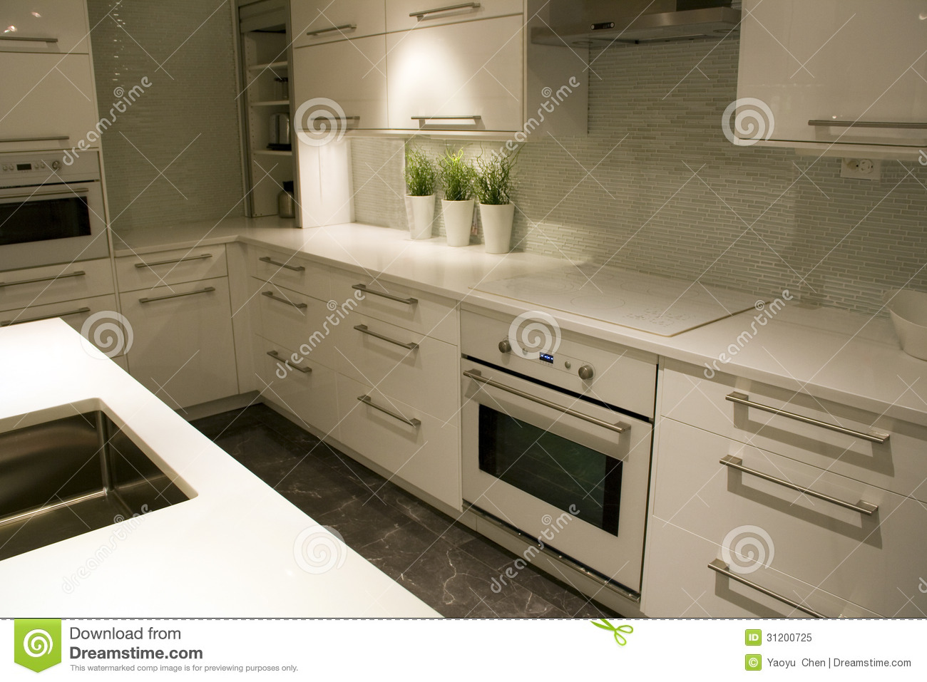 Modern Kitchen Interiors Design Stock Photography 31200140