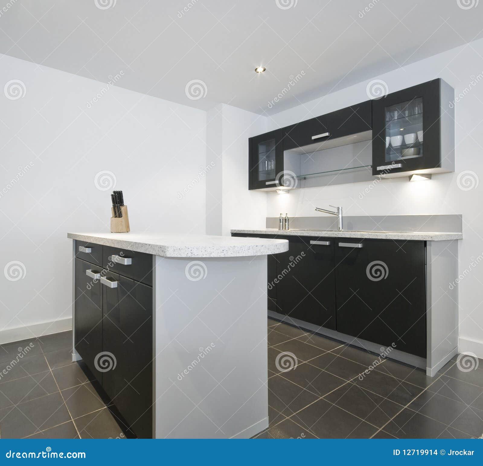 Modern Kitchen Isle Stock Images Image 12719914