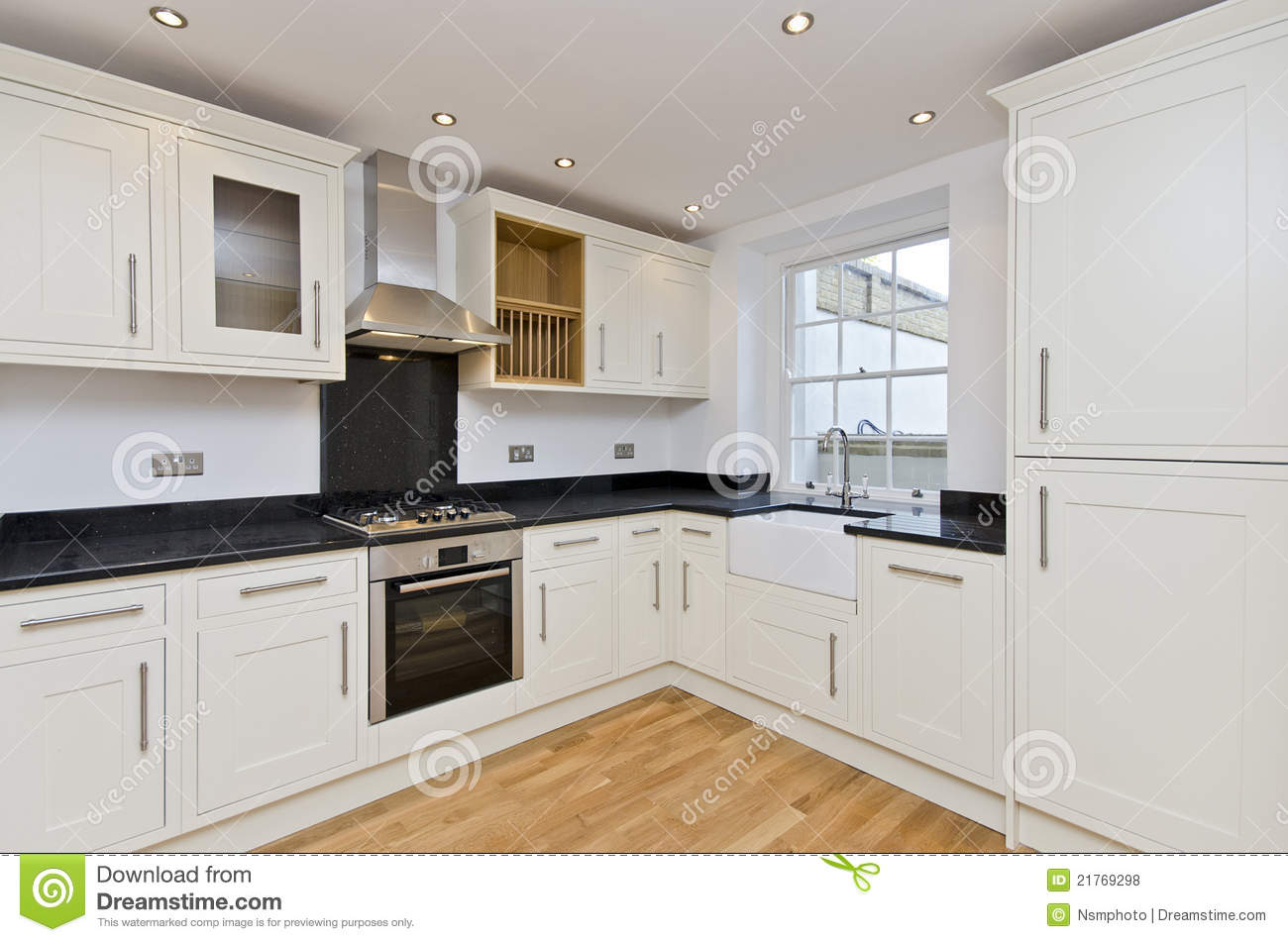 L Kitchen Modern Kitchen L Shape Kitchen In White Royalty Free Stock Photos