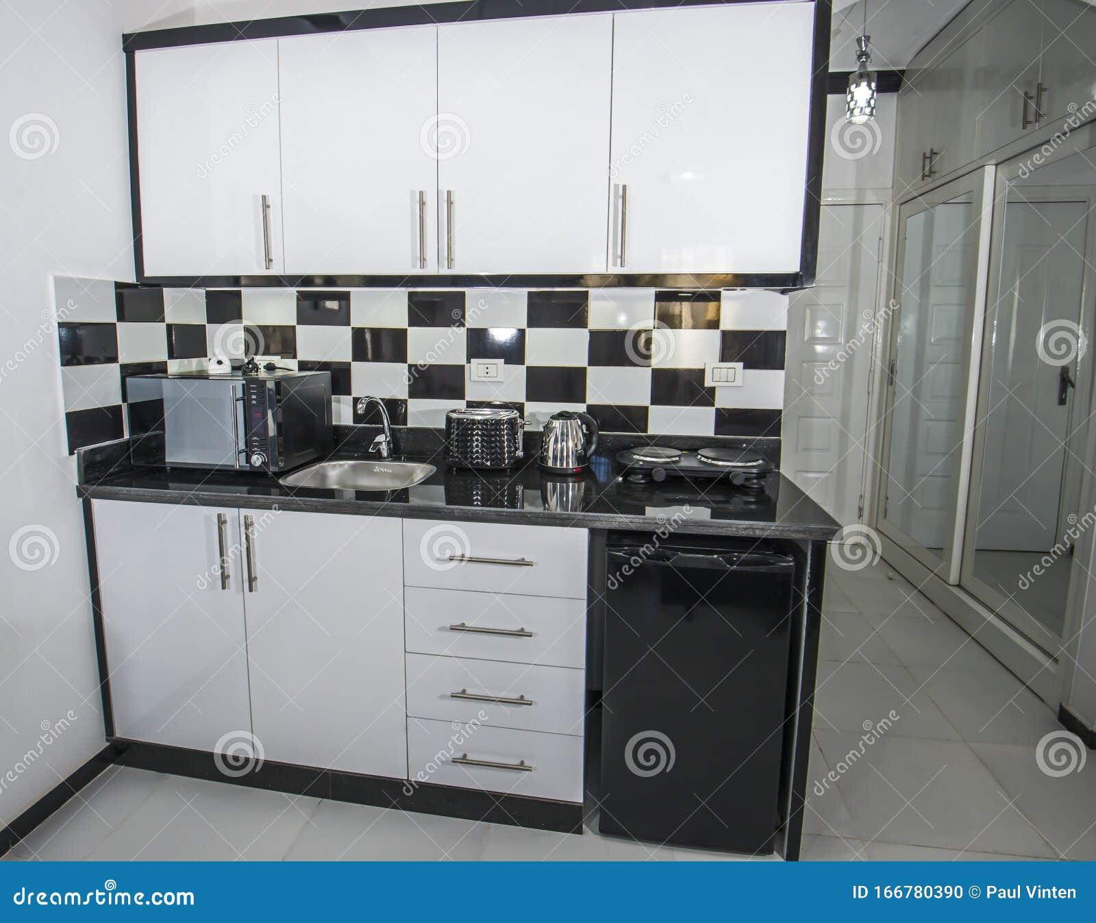 Modern Kitchen In A Luxury Apartment Stock Photo Image Of Handle Fridge 166780390