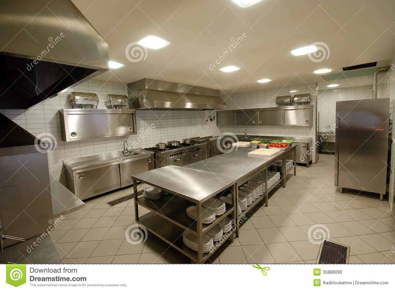 Modern Kitchen In Restaurant Stock Photo Image 35888090